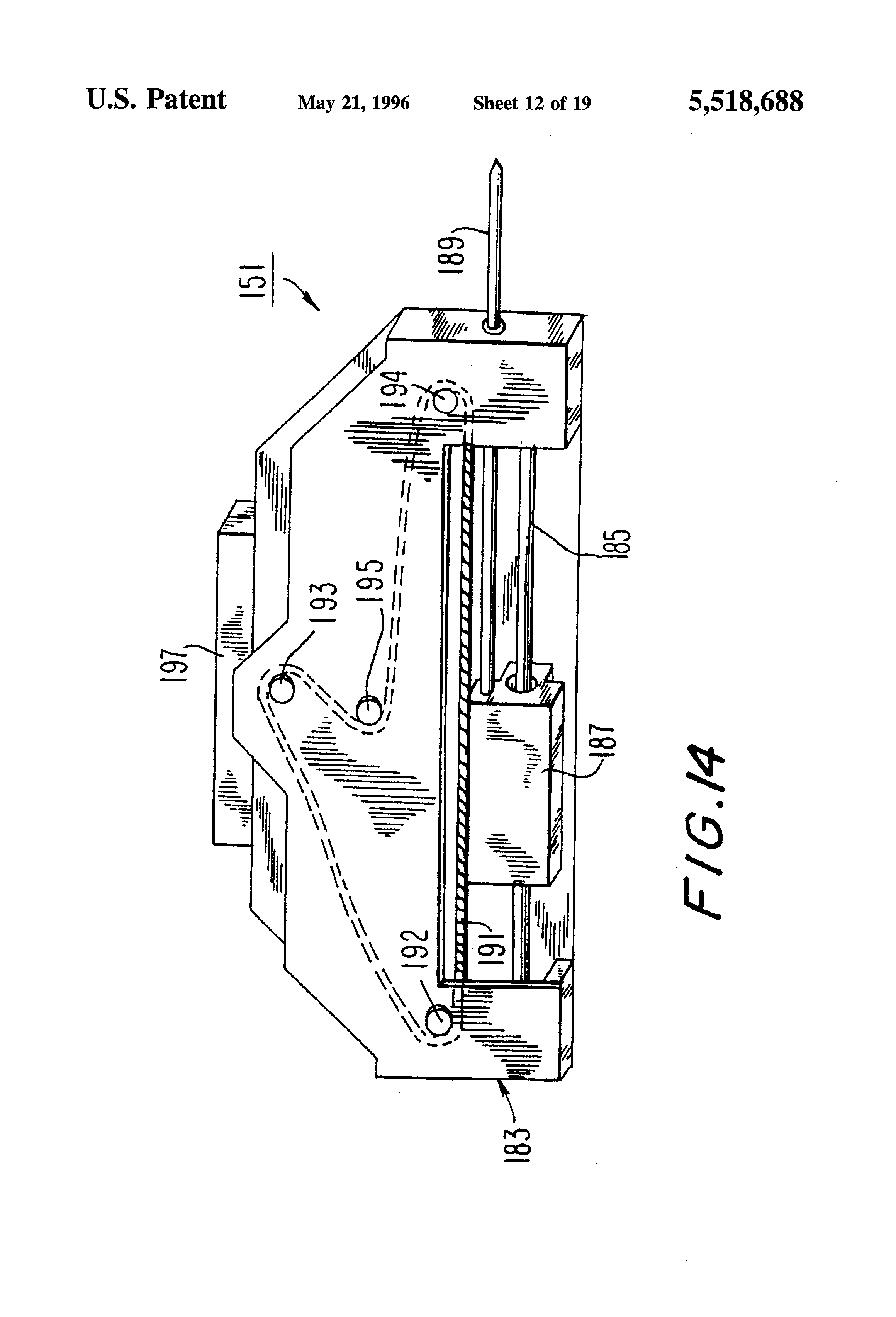 Patent US5518688 - Automated analytical instrument having a fluid ...