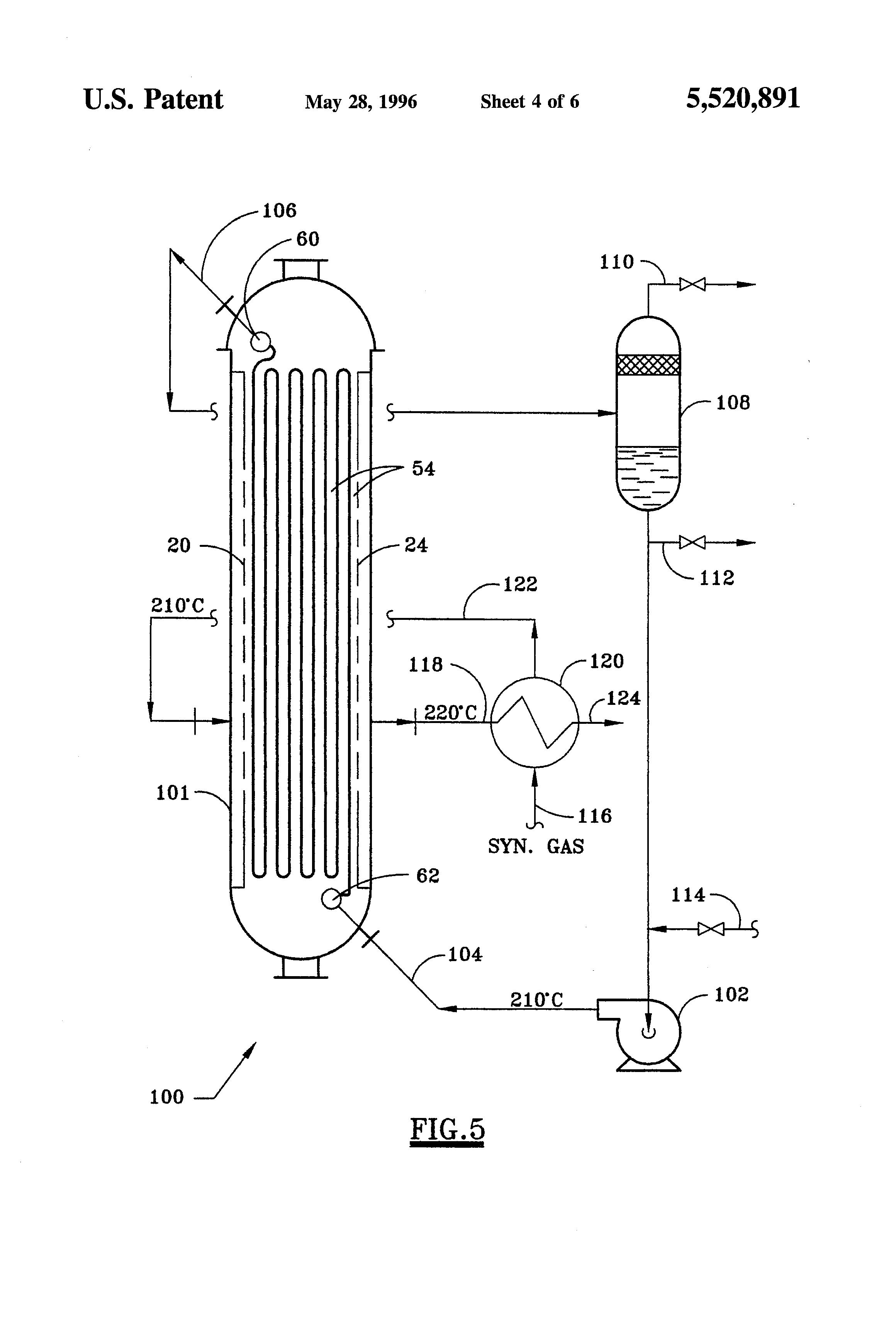 patent us5520891 - cross-flow  fixed-bed catalytic reactor