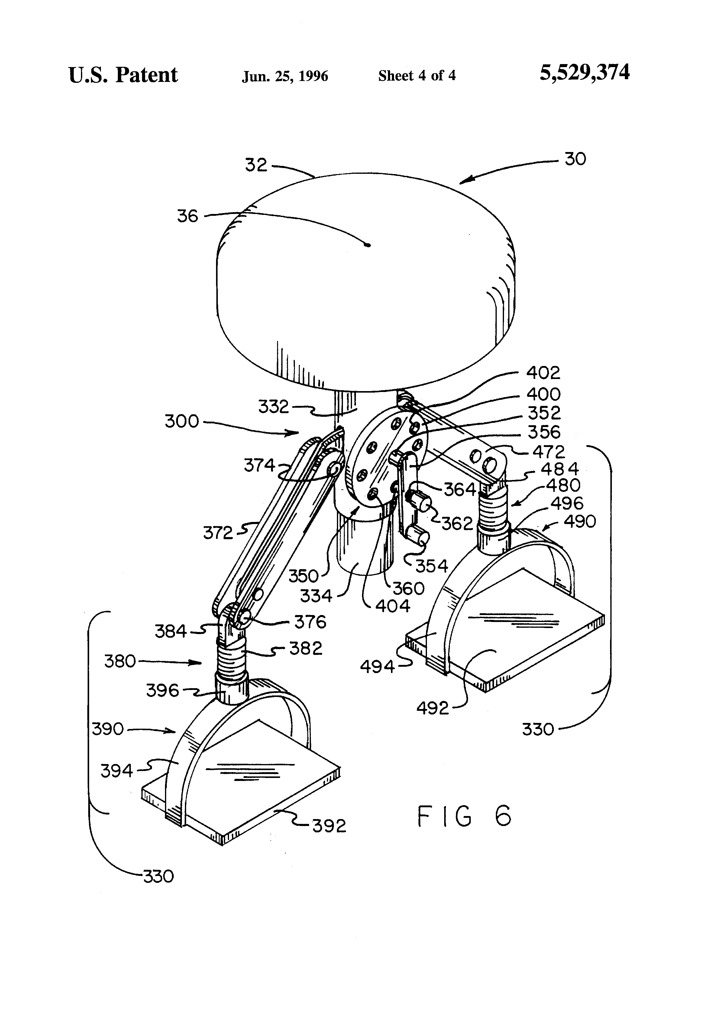 Patent Us5529374 Detachable Step Stool For A Barber S