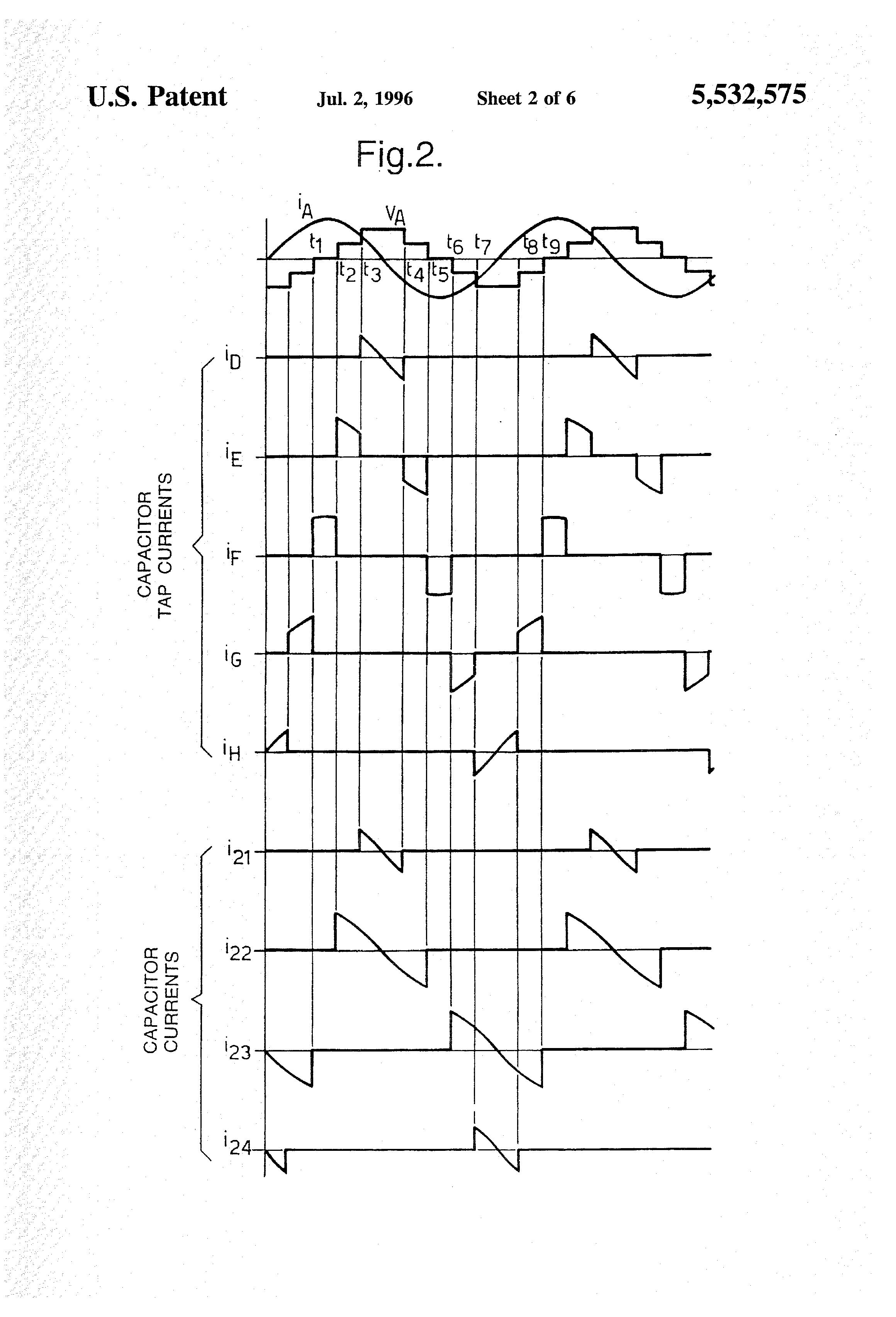 Patent Us5532575 Multilevel Converter With Capacitor Voltage Oscillators Gt Sine Wave Pure Inverter Schematic Diagram Drawing
