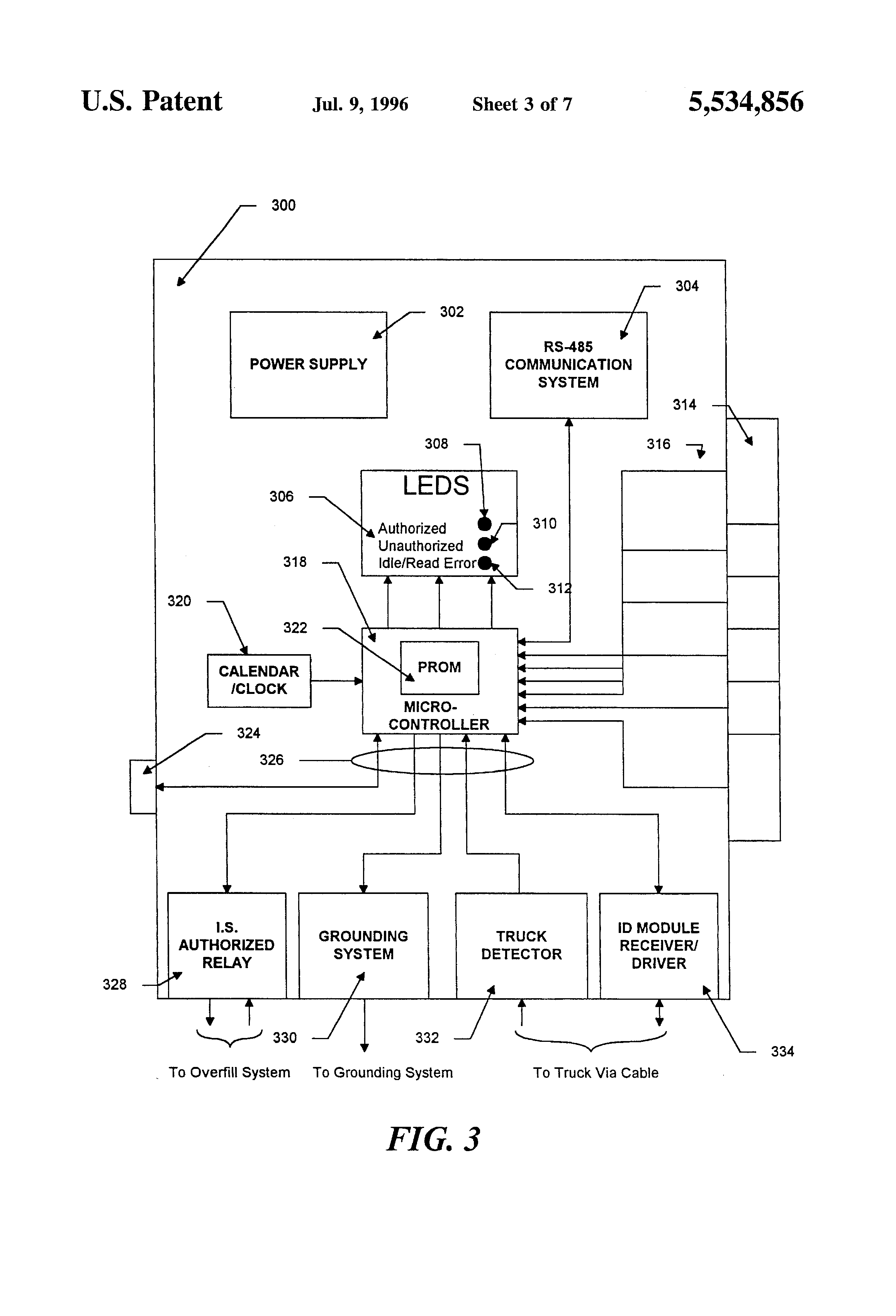 US5534856 3 patent us5534856 vehicle identification and verification system scully system wire diagram at bayanpartner.co
