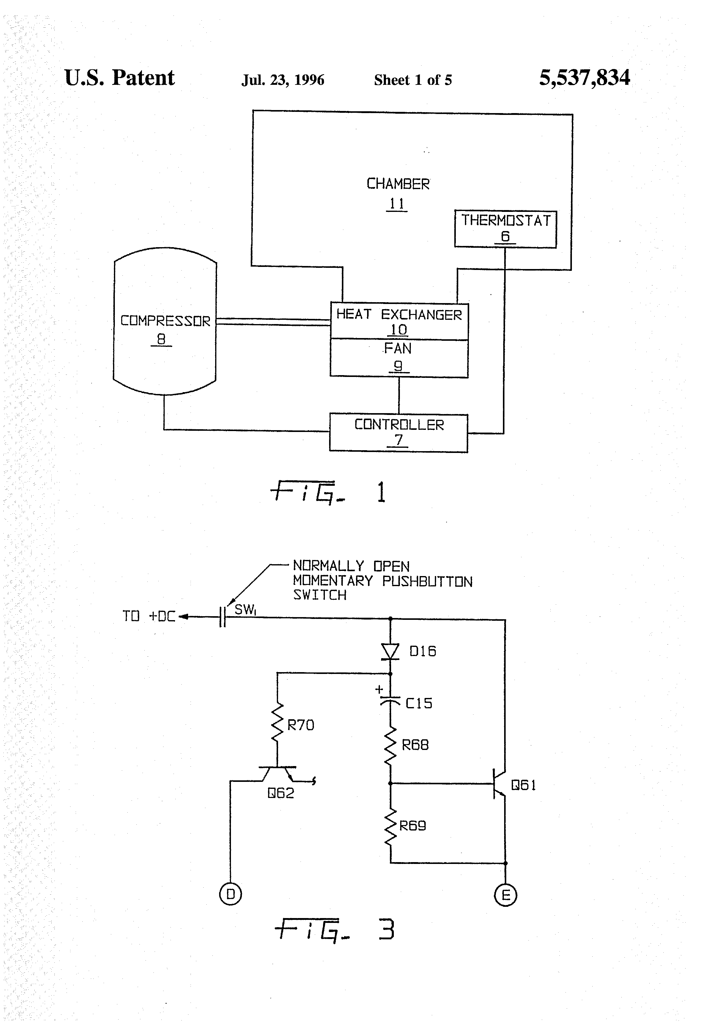 Patente Us5537834 Inductively Activated Control And Protection Ladder Logic Diagram Nand Gate Patent Drawing
