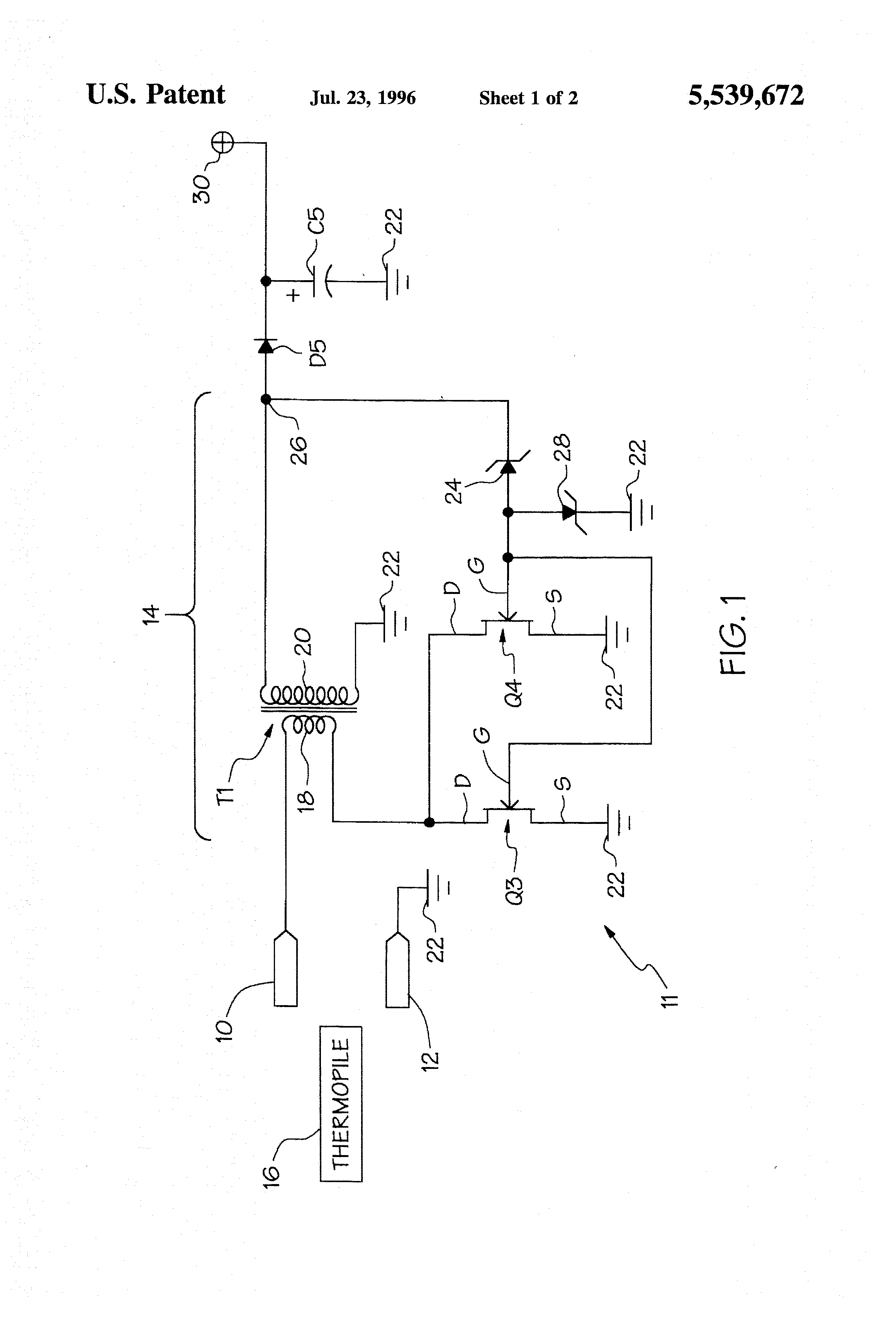 Patent US5539672 Microprocessor based temperature control circuit  #303030