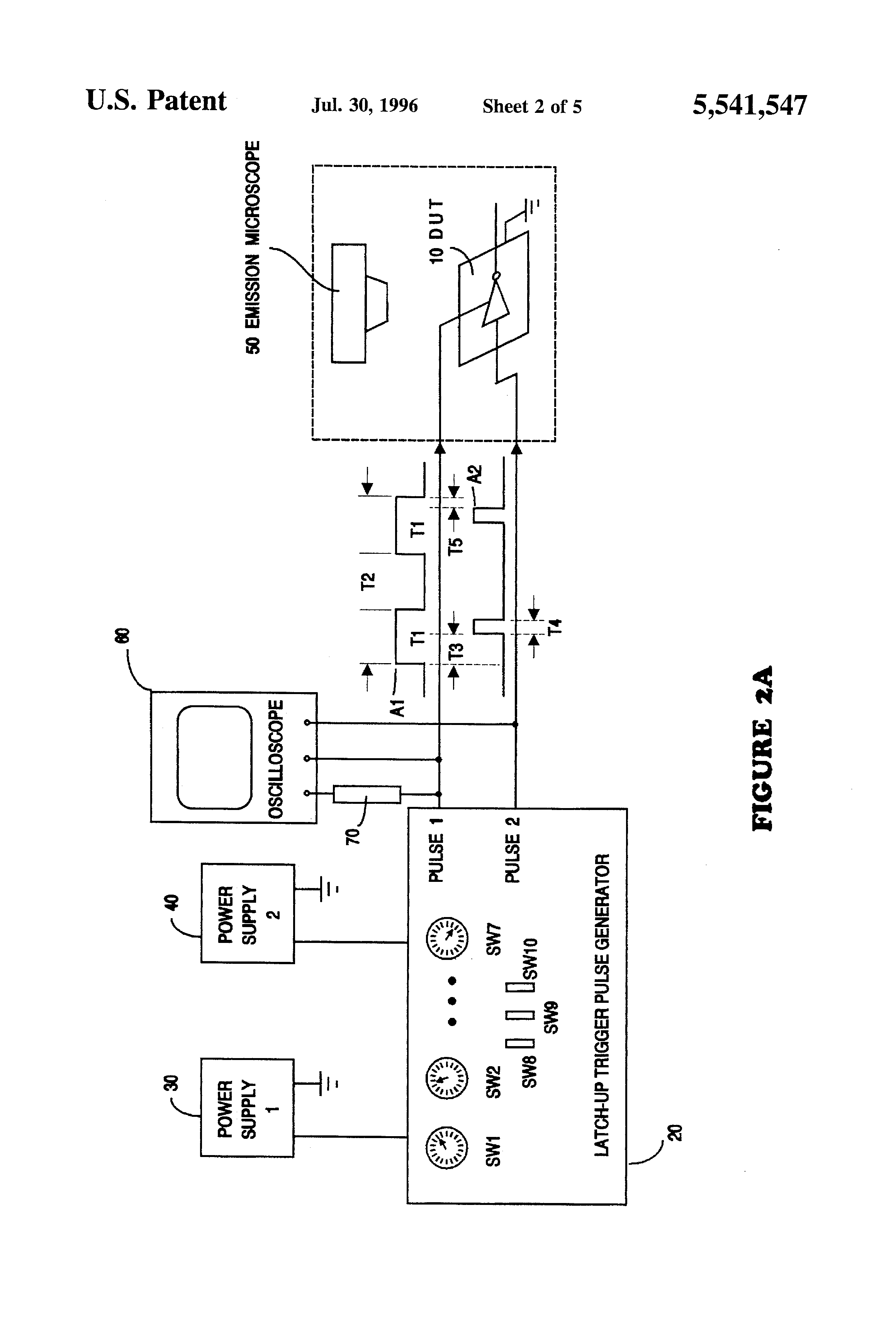 Patent Us5541547 Test Generator System For Controllably Inducing Solid State Relay Latch Up Drawing