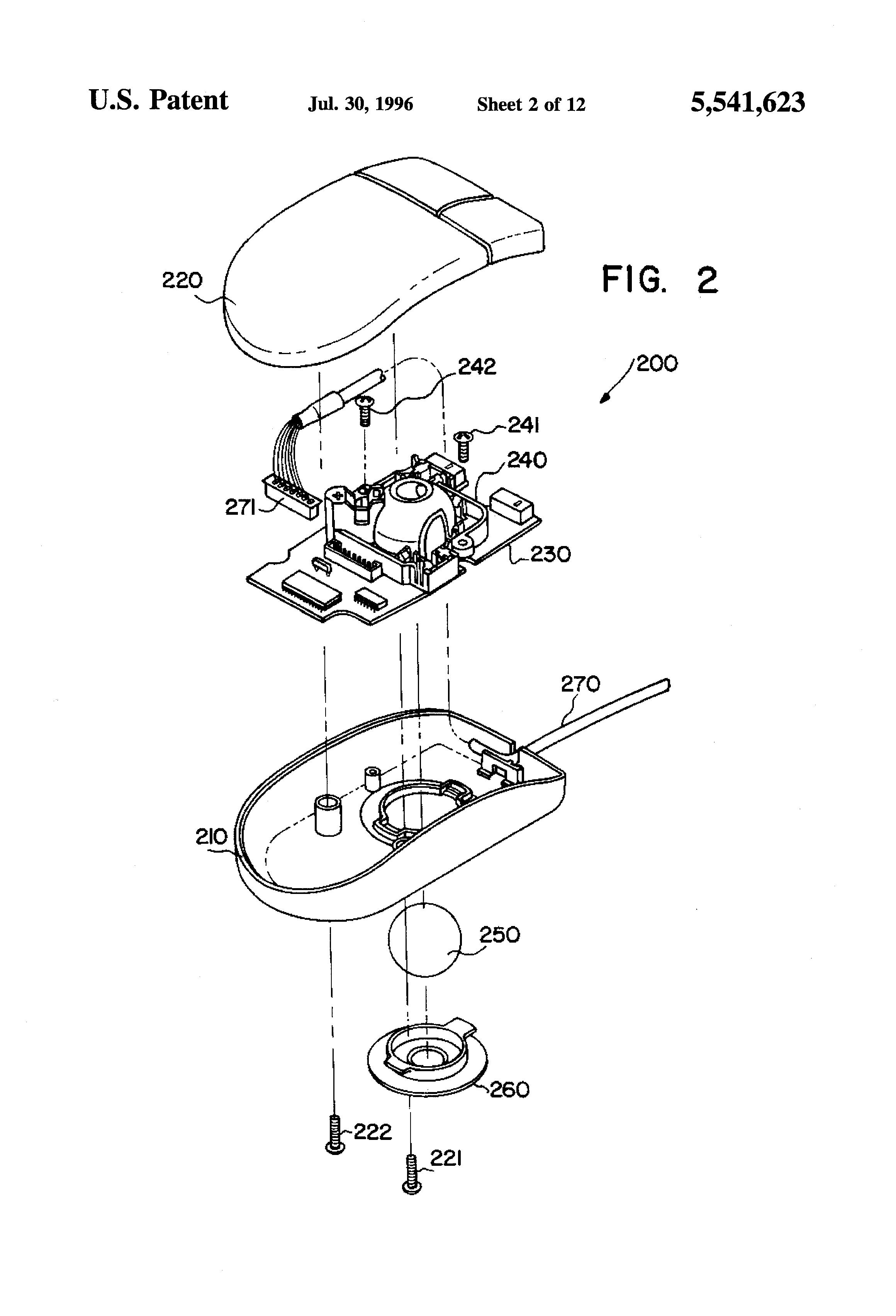 patent us5541623