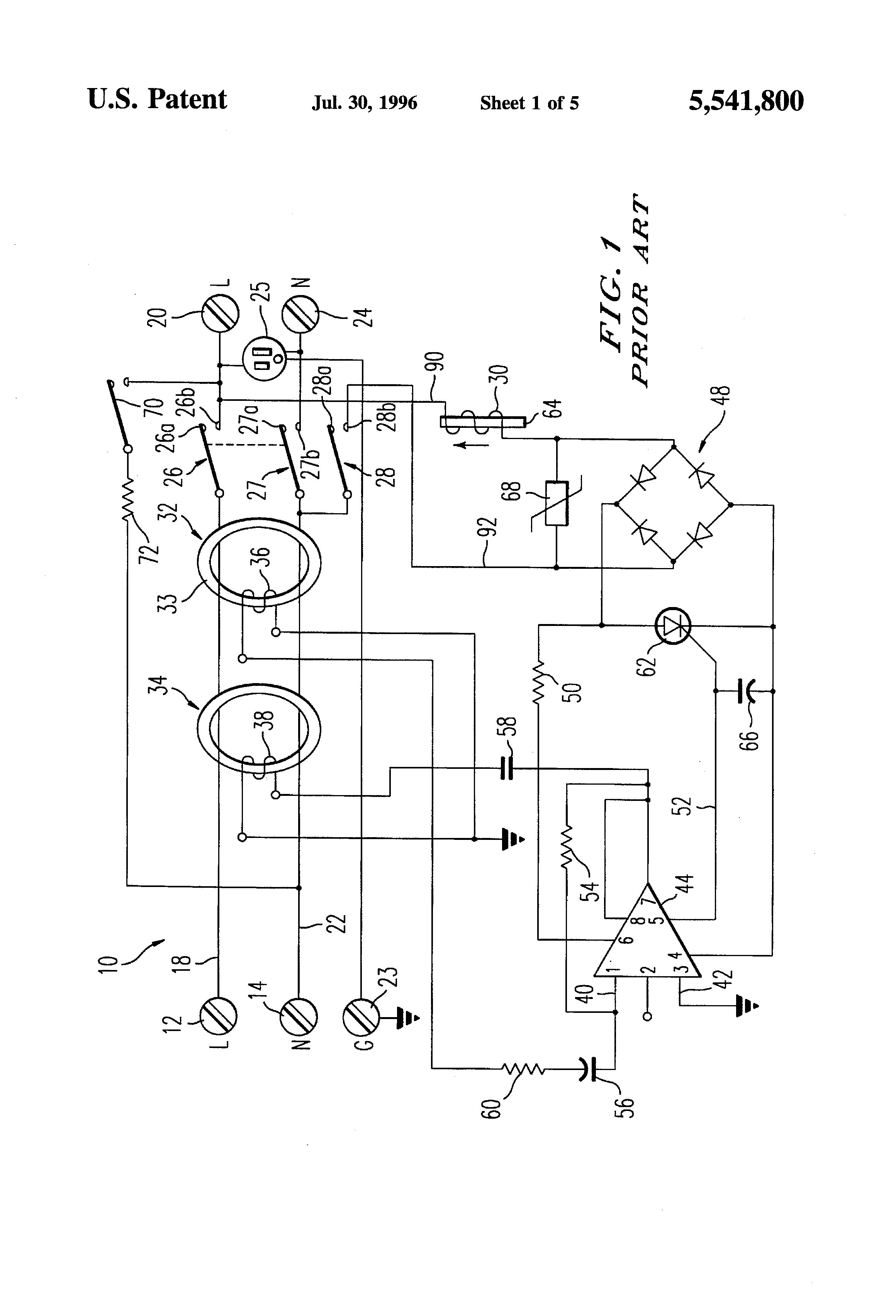 Pivoting Face Receptacle Google Patents On Wiring In Receptacles Series Patent Us5541800 Reverse Indicator For Gfci
