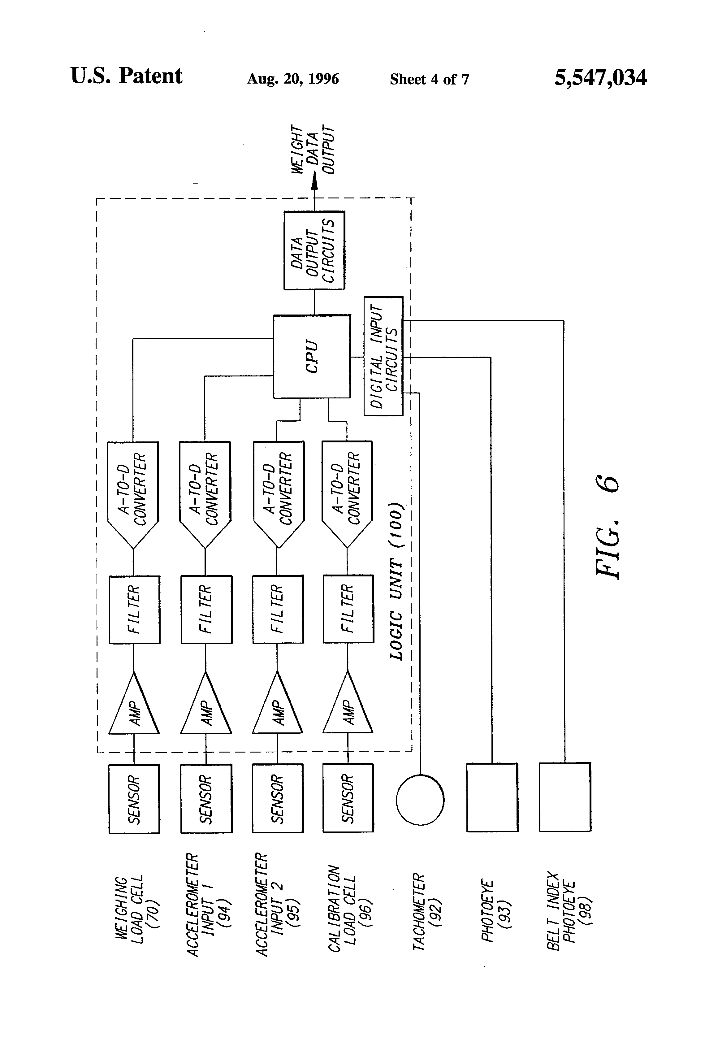 patent us5547034 - conveyor friction scale