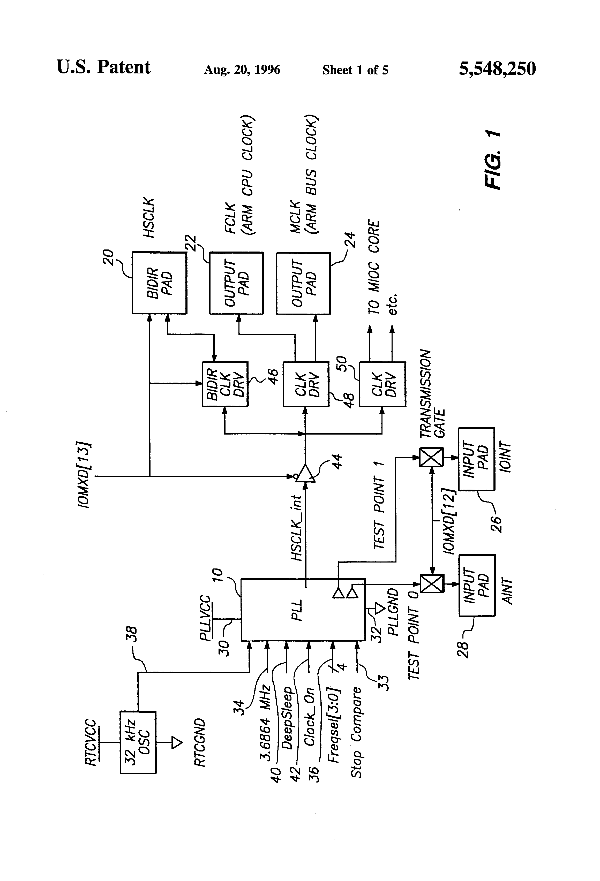 low power phase lock loop clocking circuit for battery powered