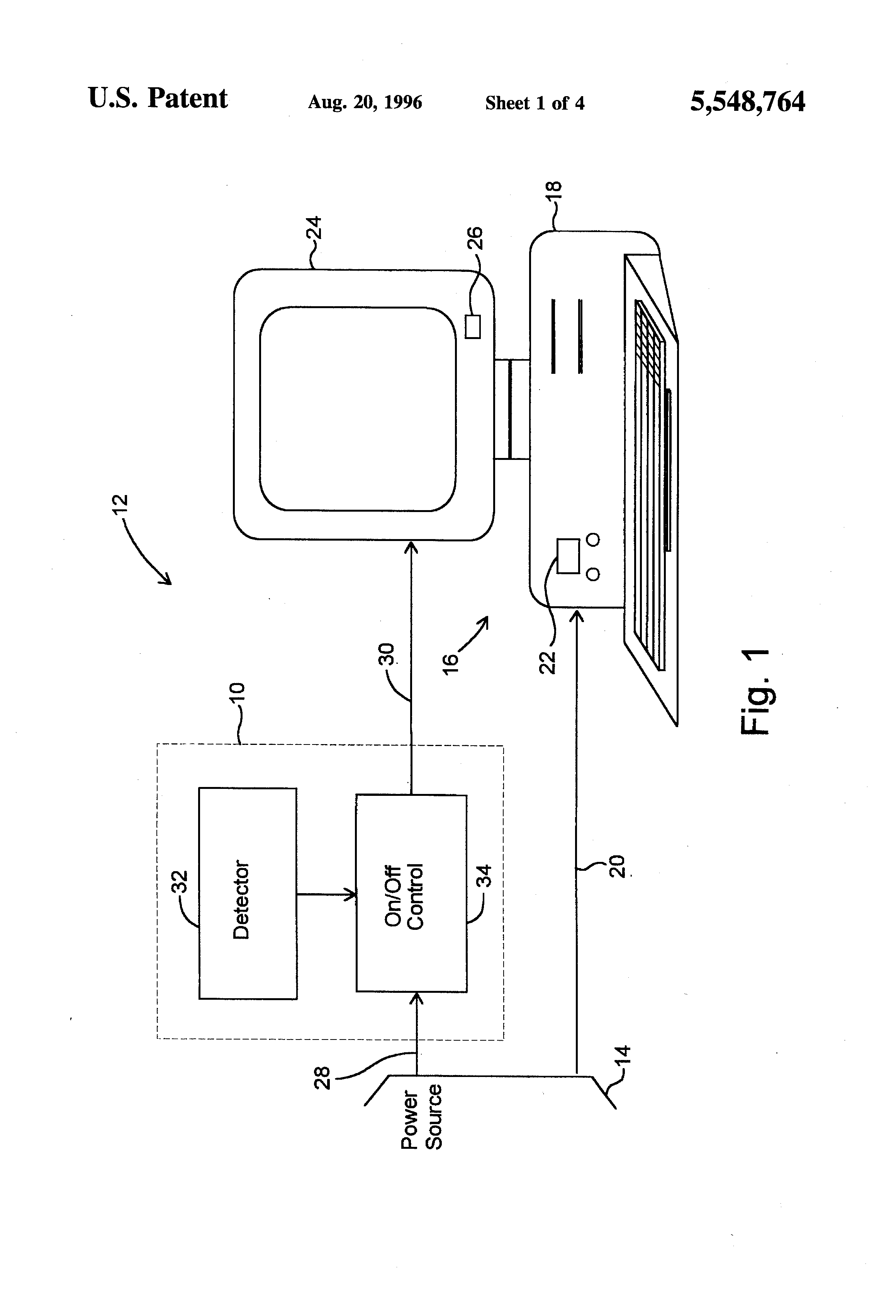 patent us5548764