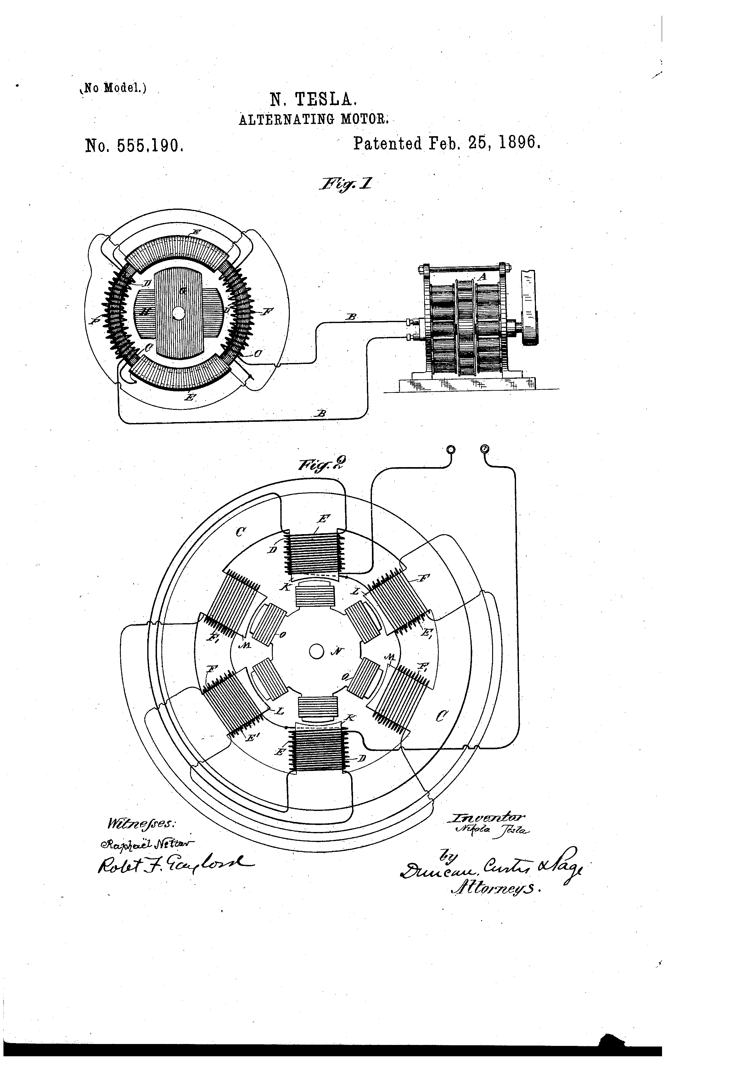nikola tesla electric motor diagram