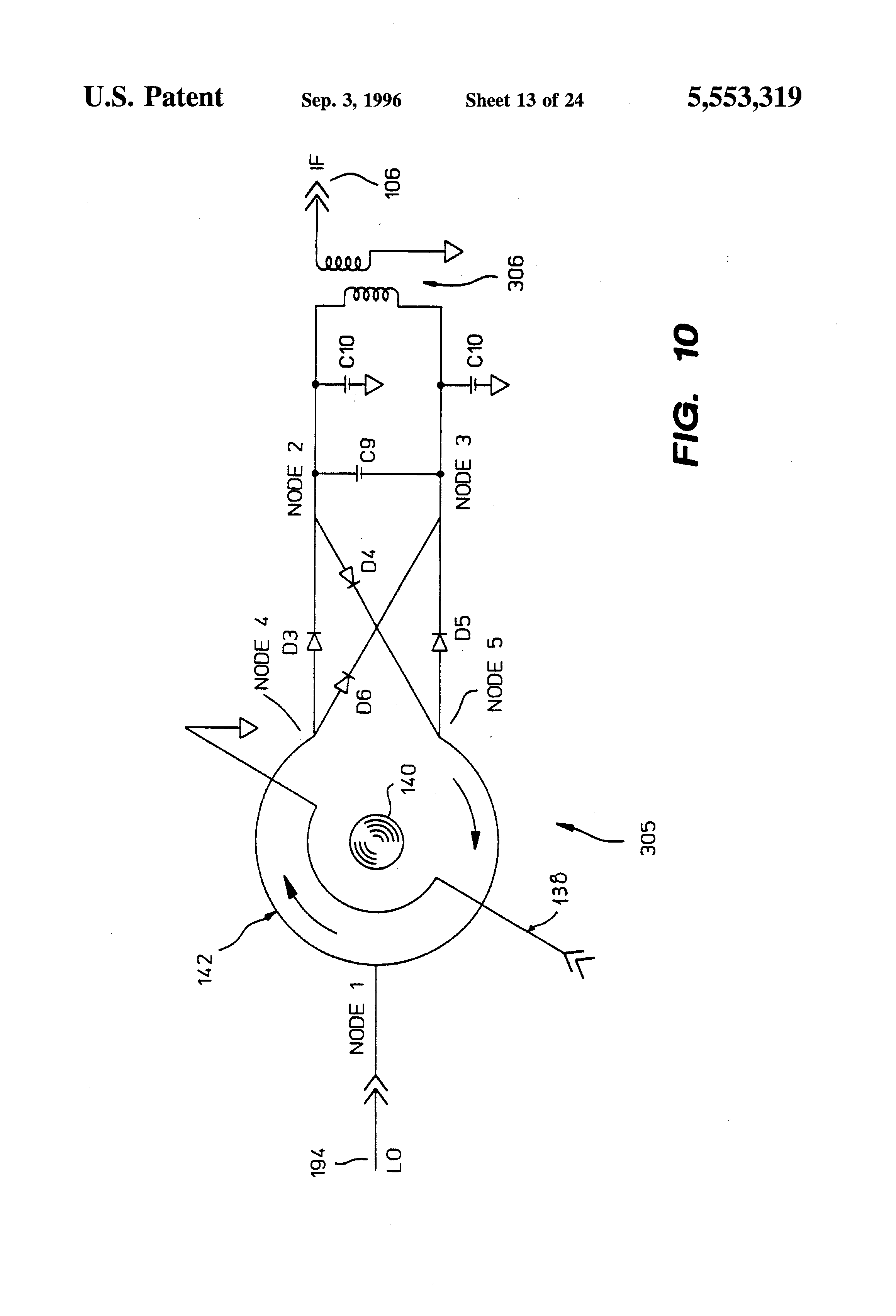 brevetto us5553319 - routing yig-tuned mixer