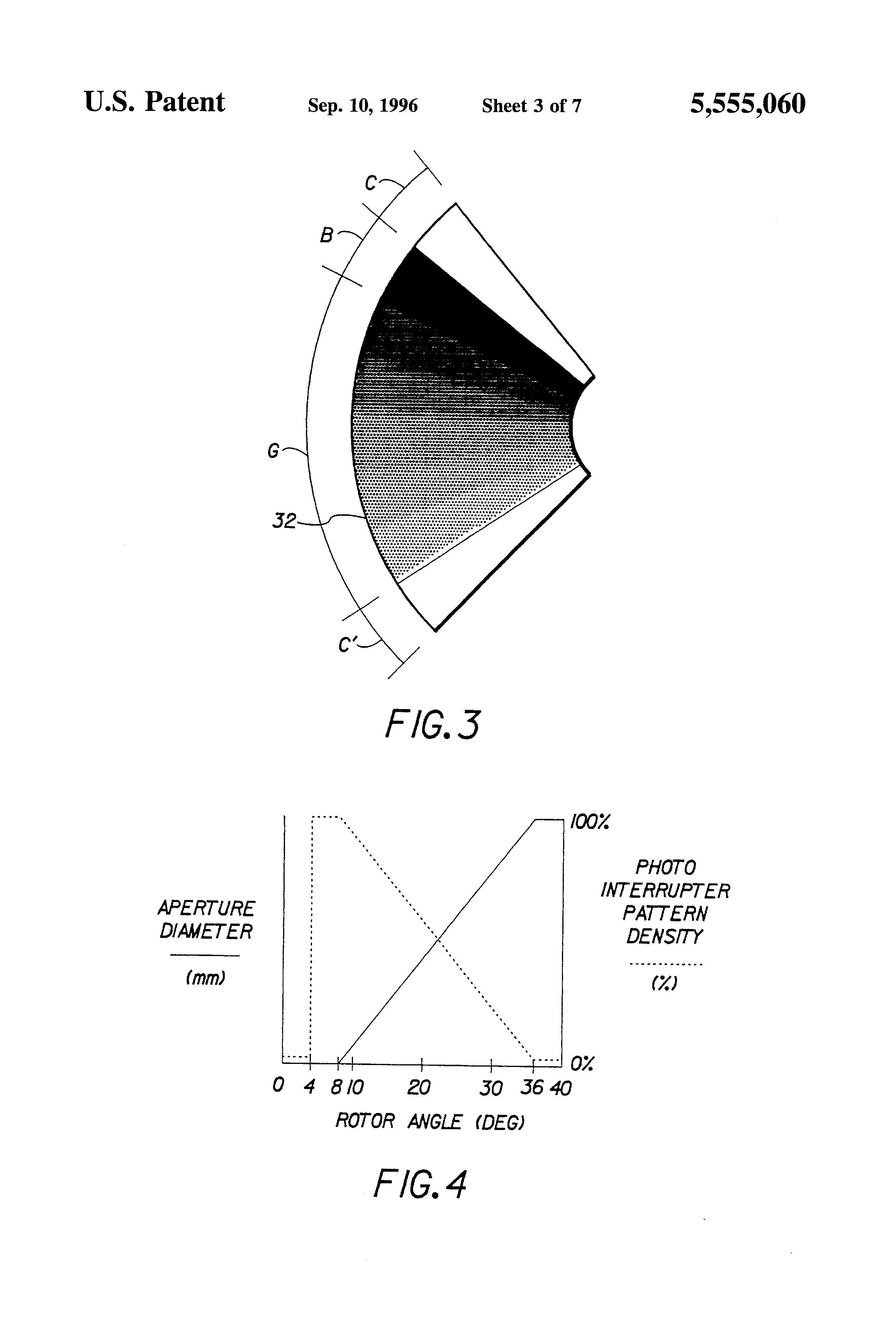 Patent Us5555060 Self Calibrating Actuator Position Control System Optical Interrupter Circuit Drawing