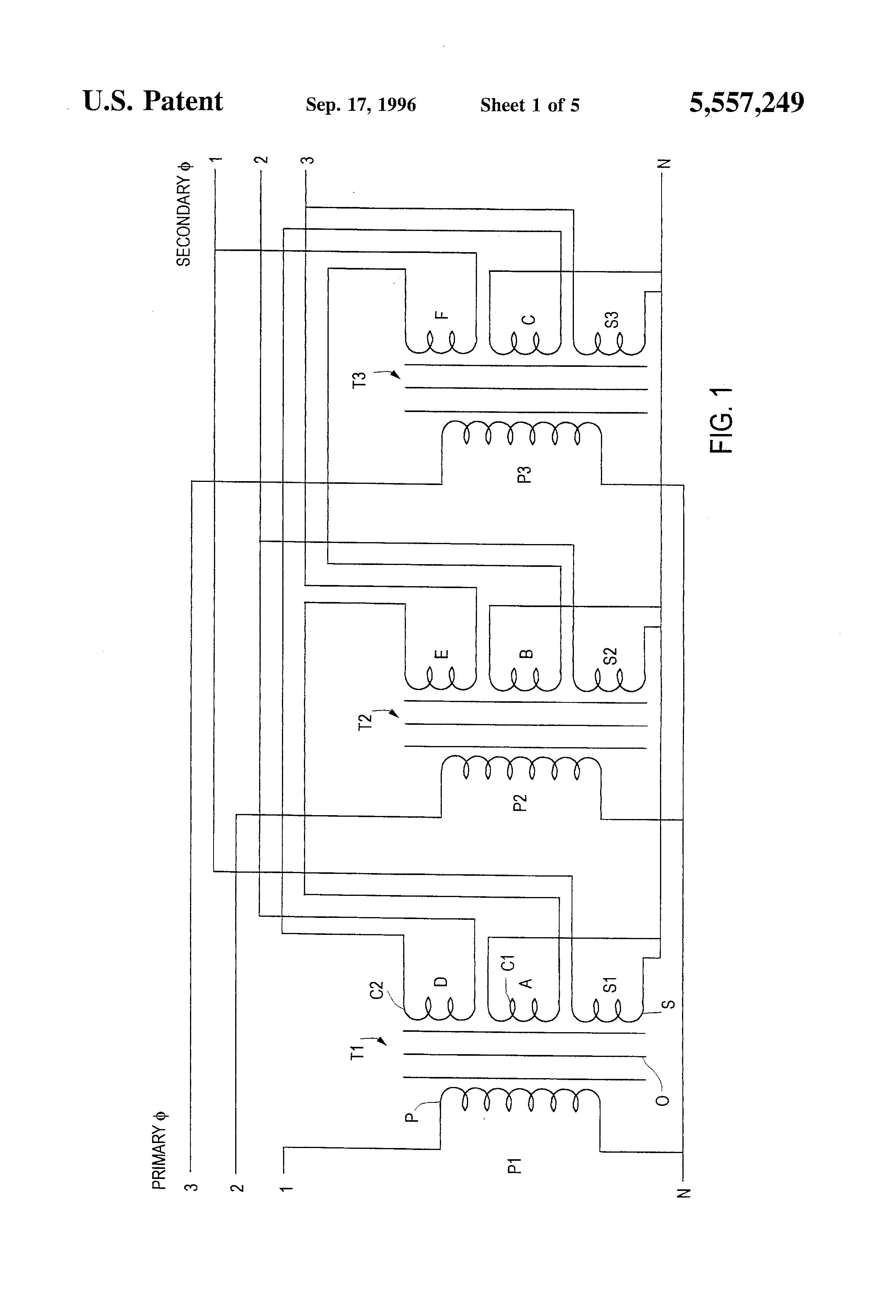 Rtcc Panel Wiring Diagram : Patent us load balancing transformer google patents
