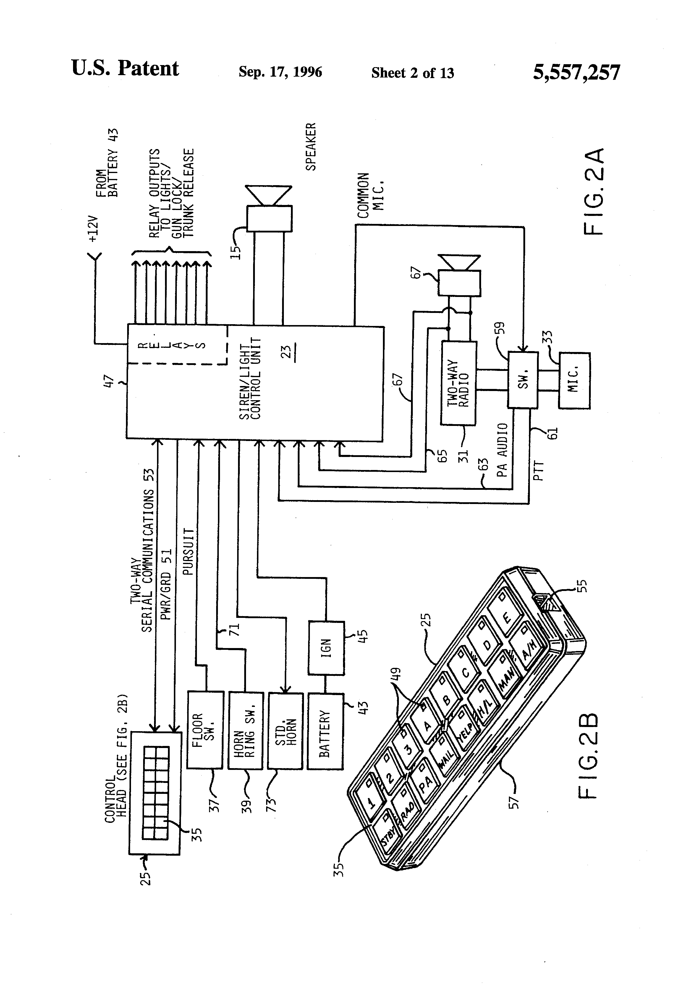 US5557257 2 patent us5557257 programmable emergency signalling system for a federal signal ss2000 wiring diagram at virtualis.co