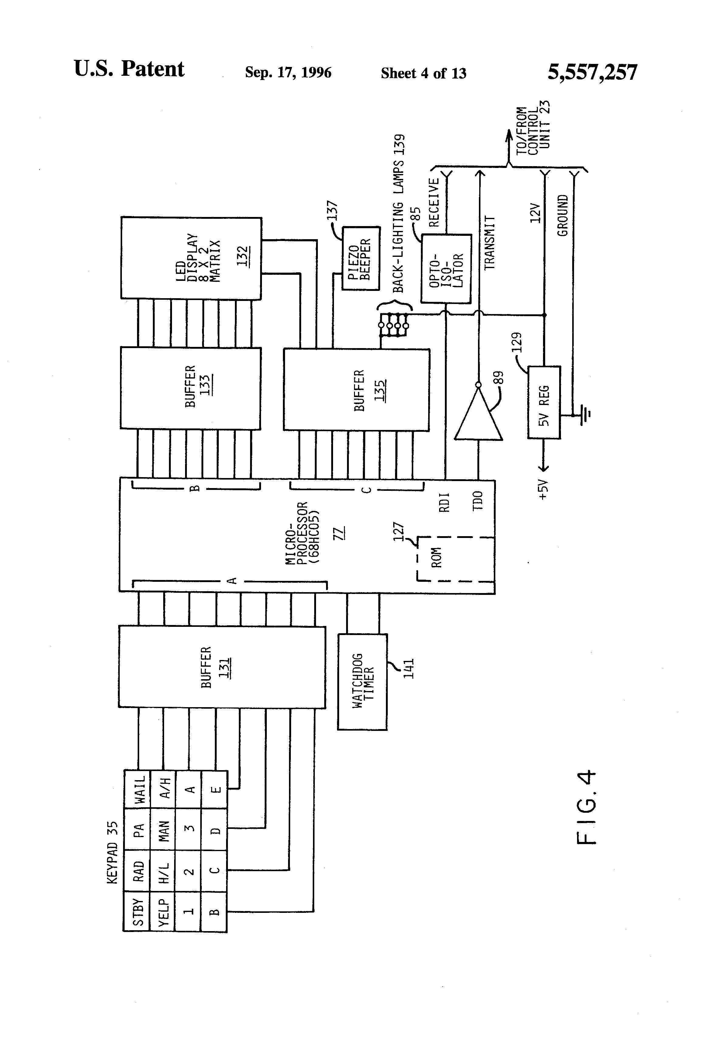 US5557257 4 patent us5557257 programmable emergency signalling system for a federal signal ss2000 wiring diagram at virtualis.co
