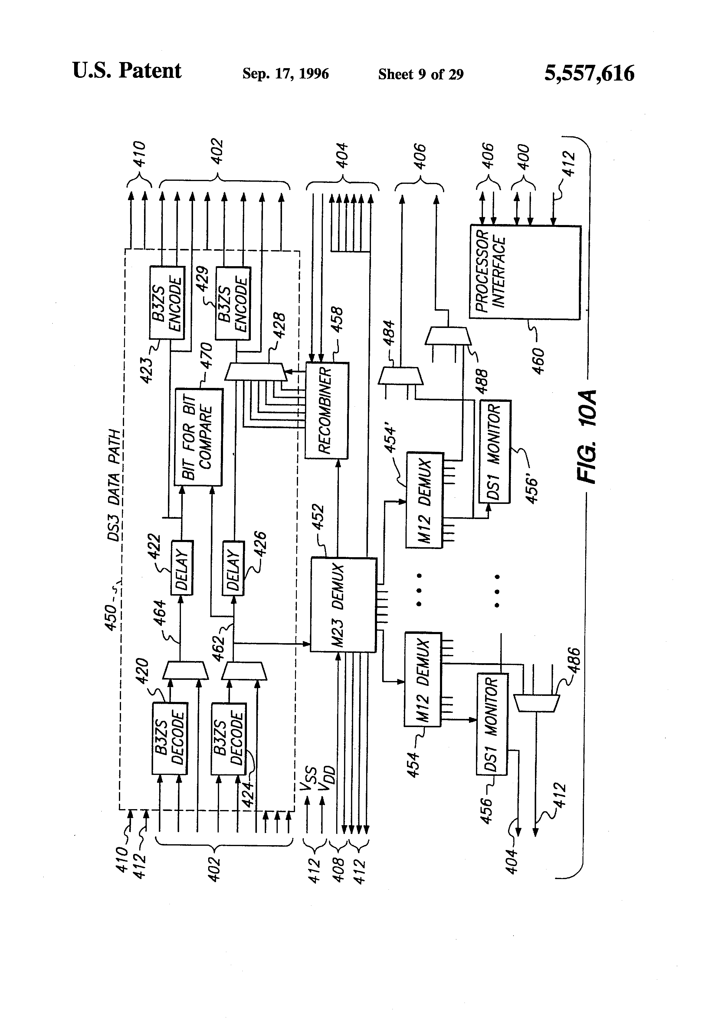 Patent Us5557616 Frame Synchronization In A Performance Monitoring 555watchdogtimercircuit Watchdogtimeralarm Controlcircuit Drawing