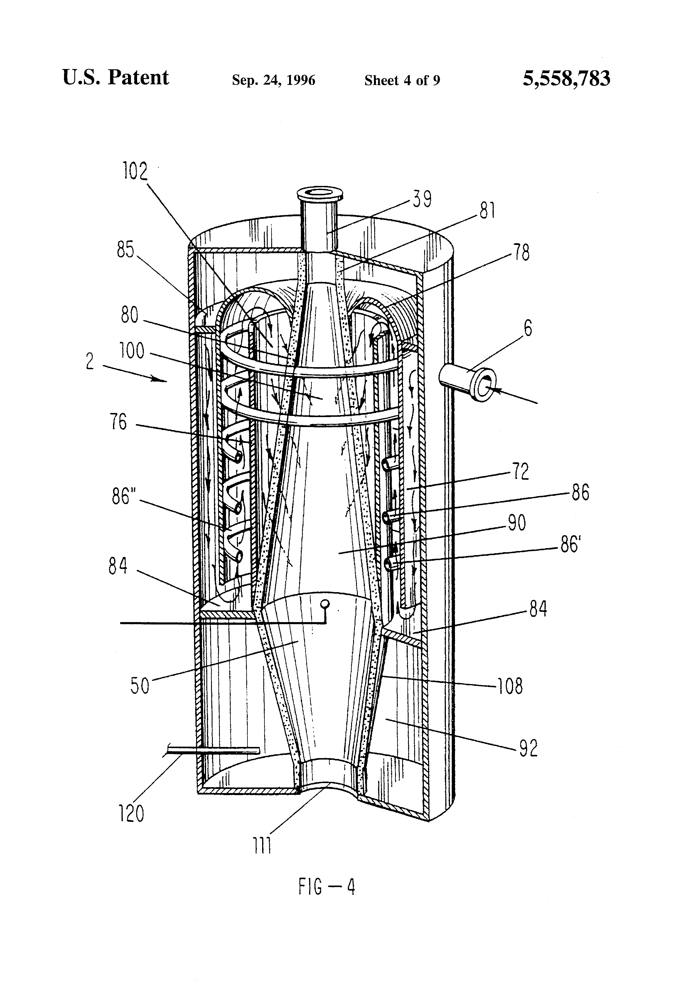 Patent Us5558783 Supercritical Oxidation Reactor Google Patents Miller Trailblazer Engine Diagram Drawing