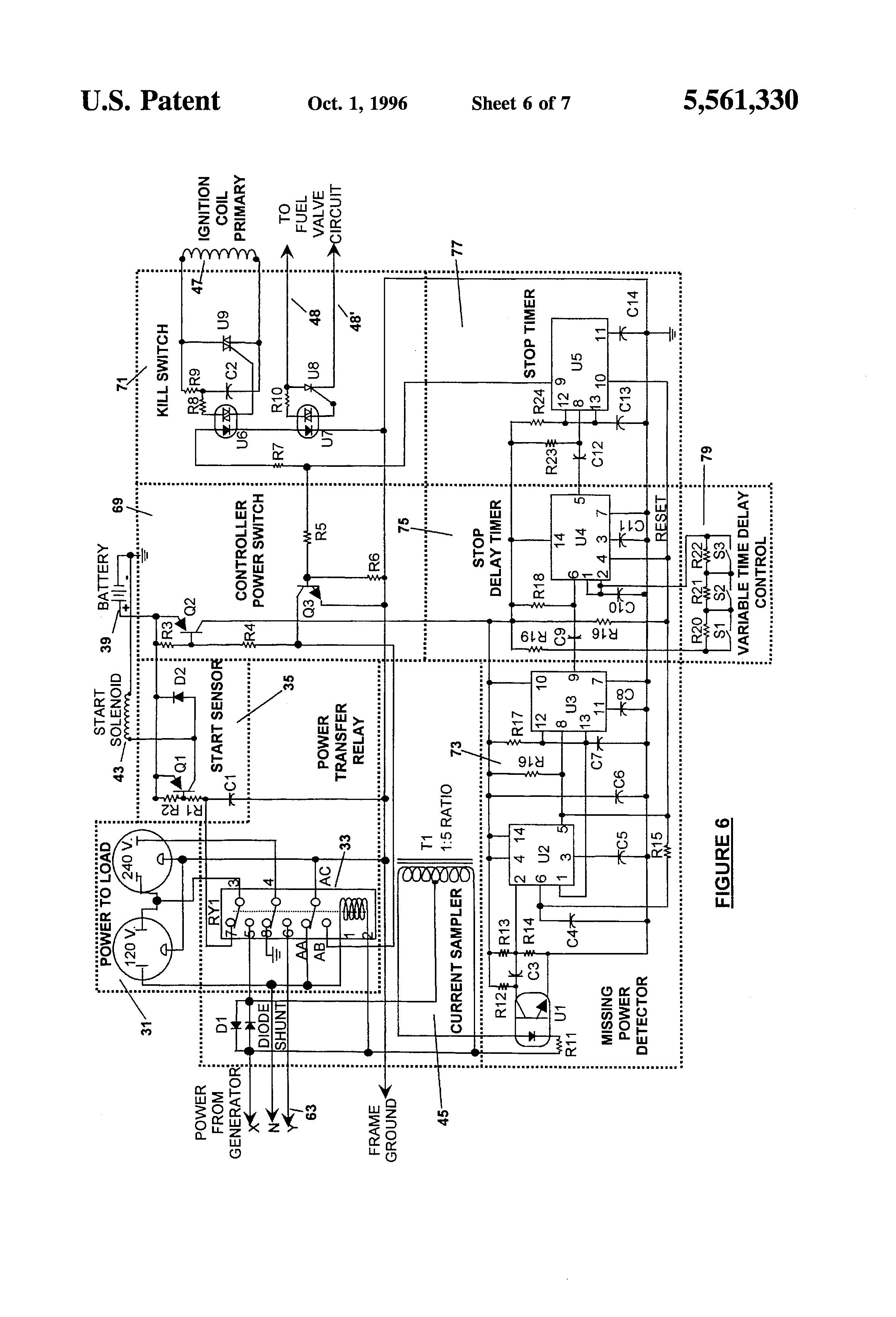 wiring diagram for powermate generator