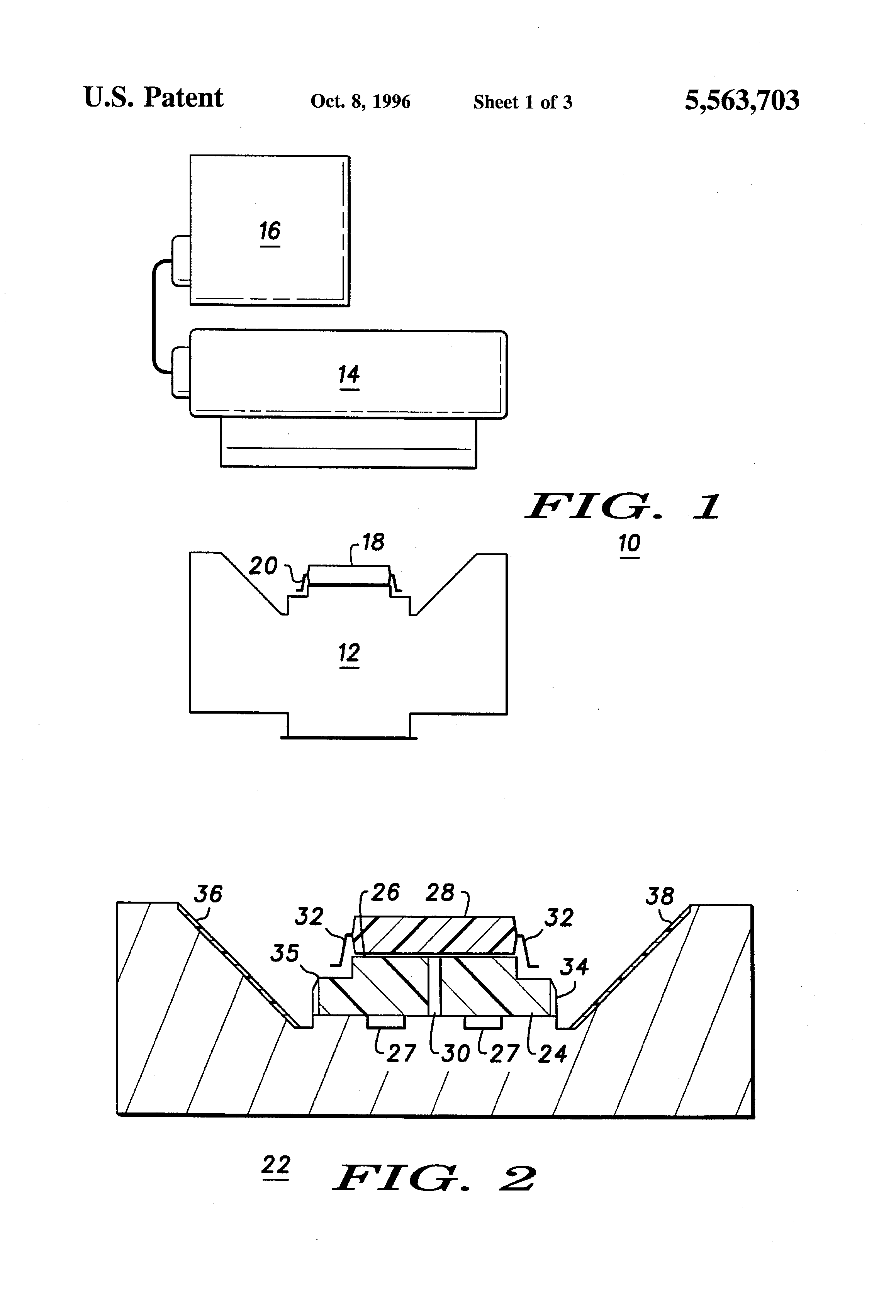 patente us5563703 - lead coplanarity inspection apparatus and method thereof