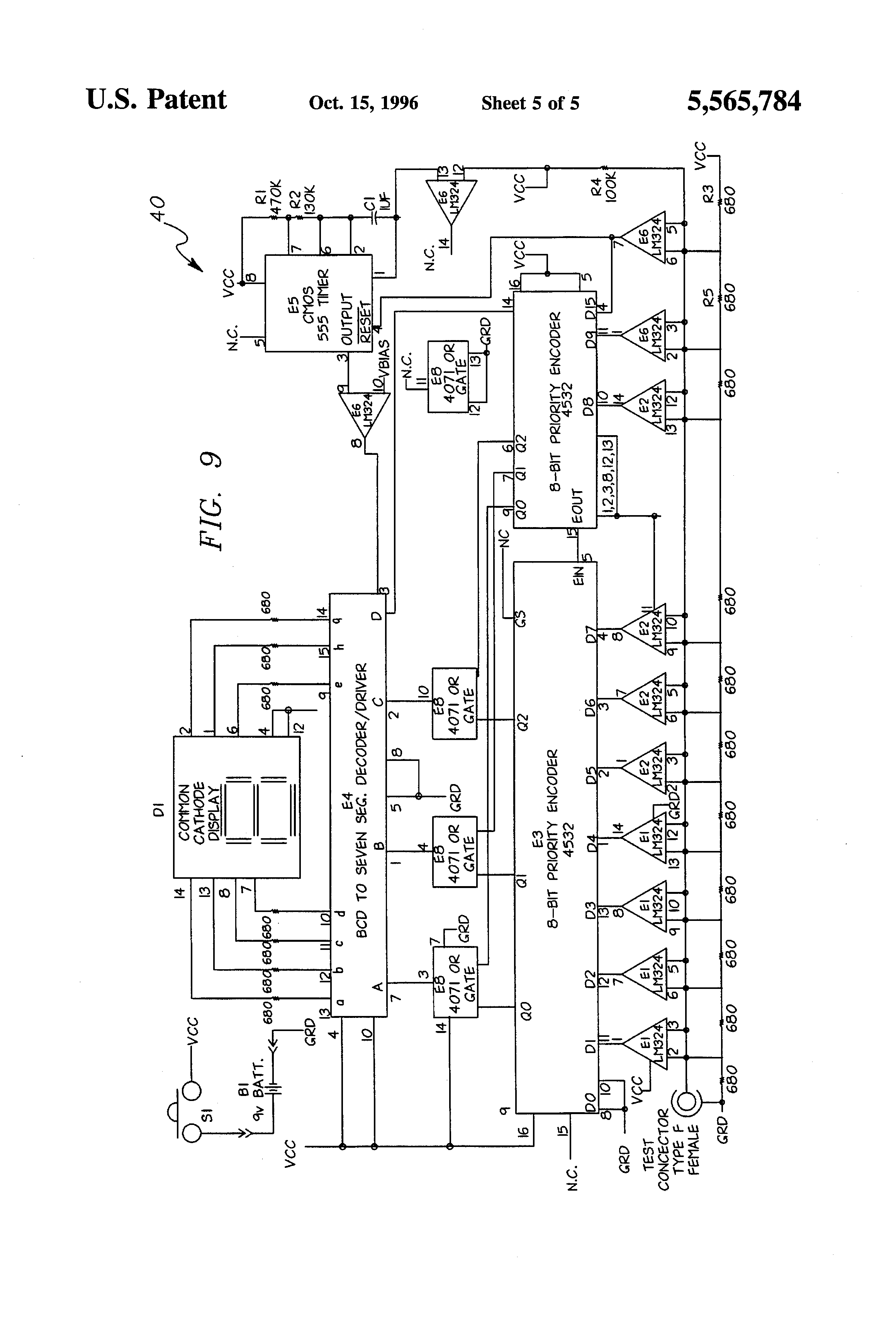 patent us5565784