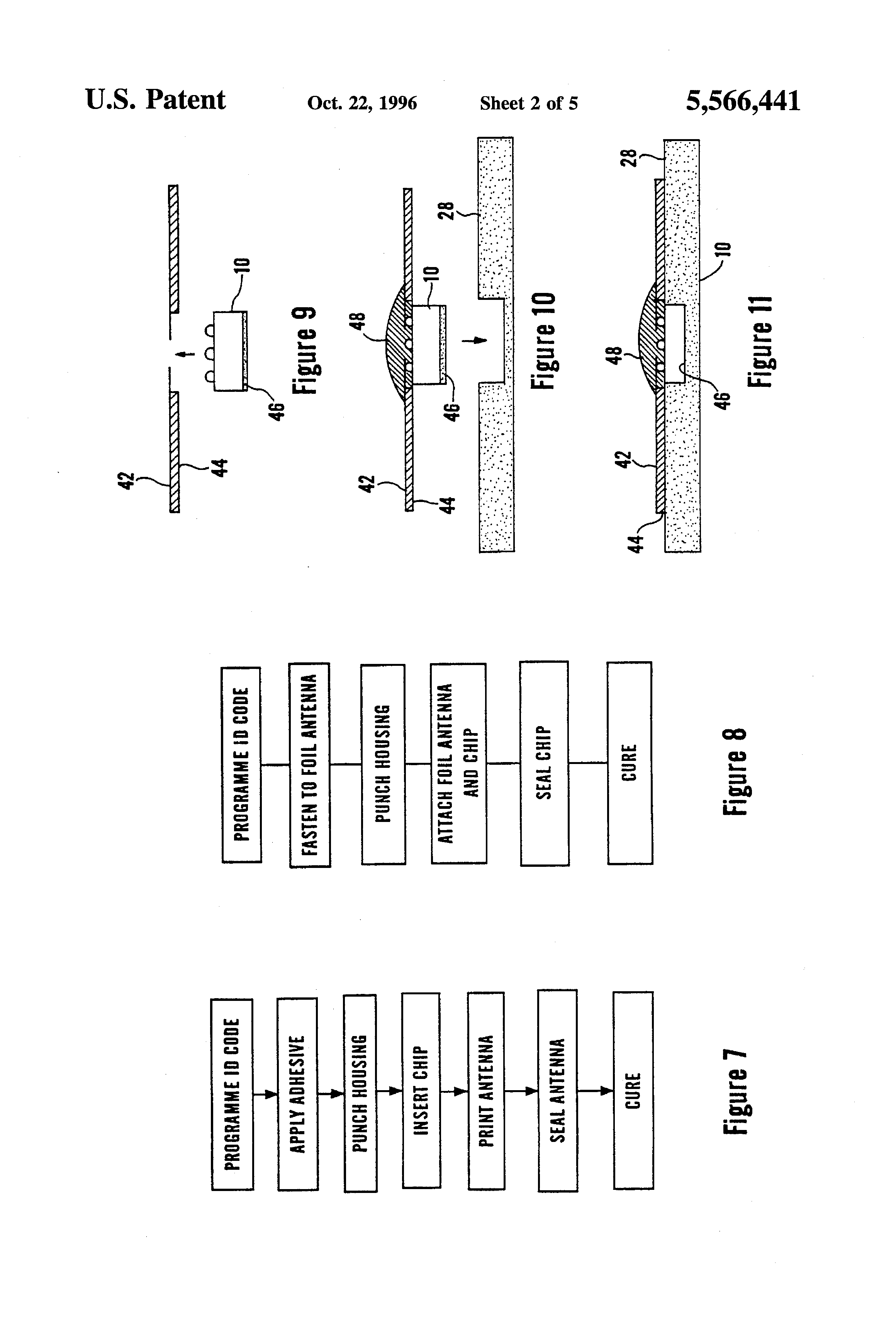 patent us5566441 - attaching an electronic circuit to a substrate