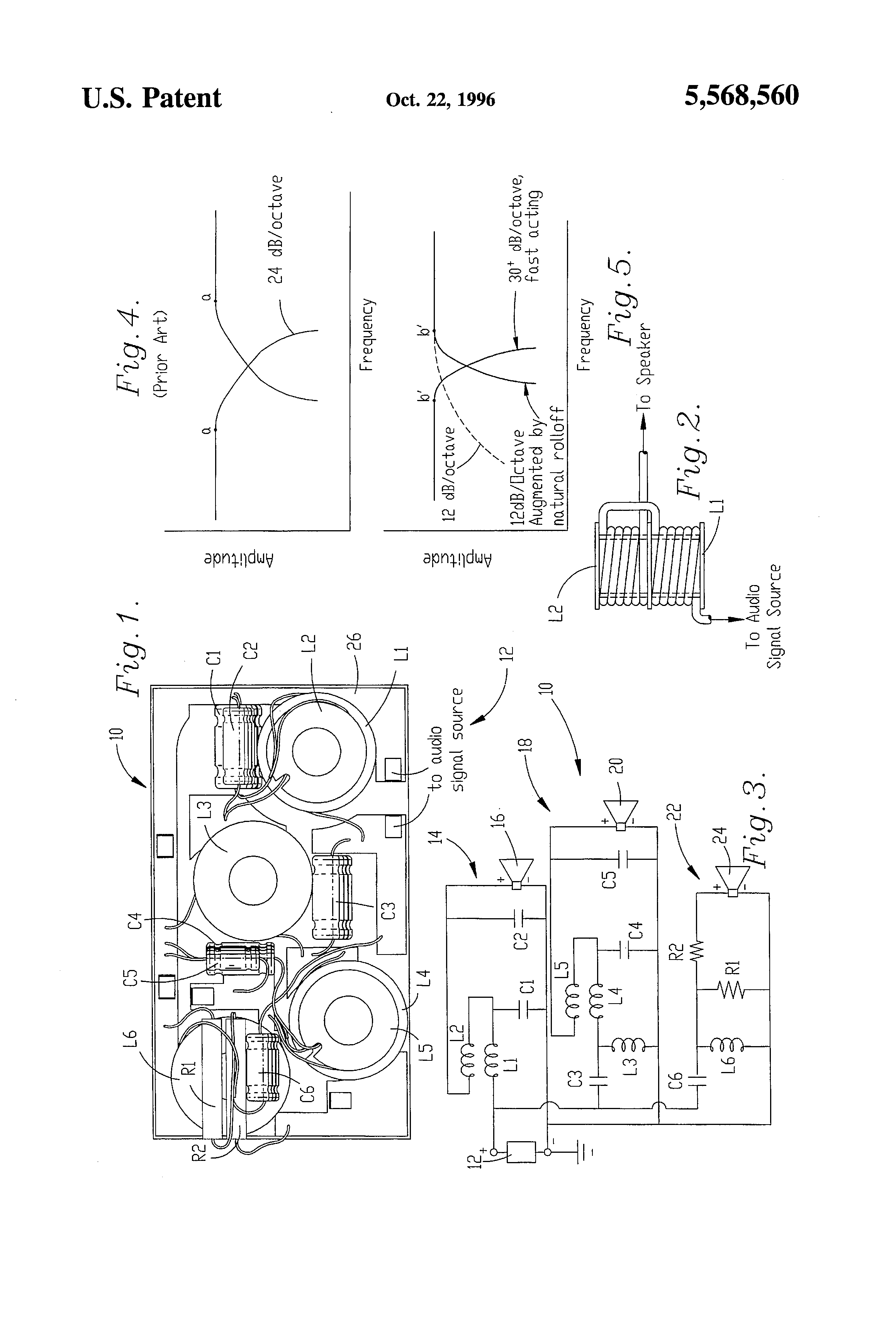 Patent US5568560 - Audio crossover circuit - Google Patents on altitude diagram, amplifier diagram, subwoofer crossover diagram, crossover cable diagram, crossover circuit diagram, crossover steering diagram, cat5 cable diagram, t1 cable pinout diagram, speakers diagram, battery diagram, crossover connection diagram,