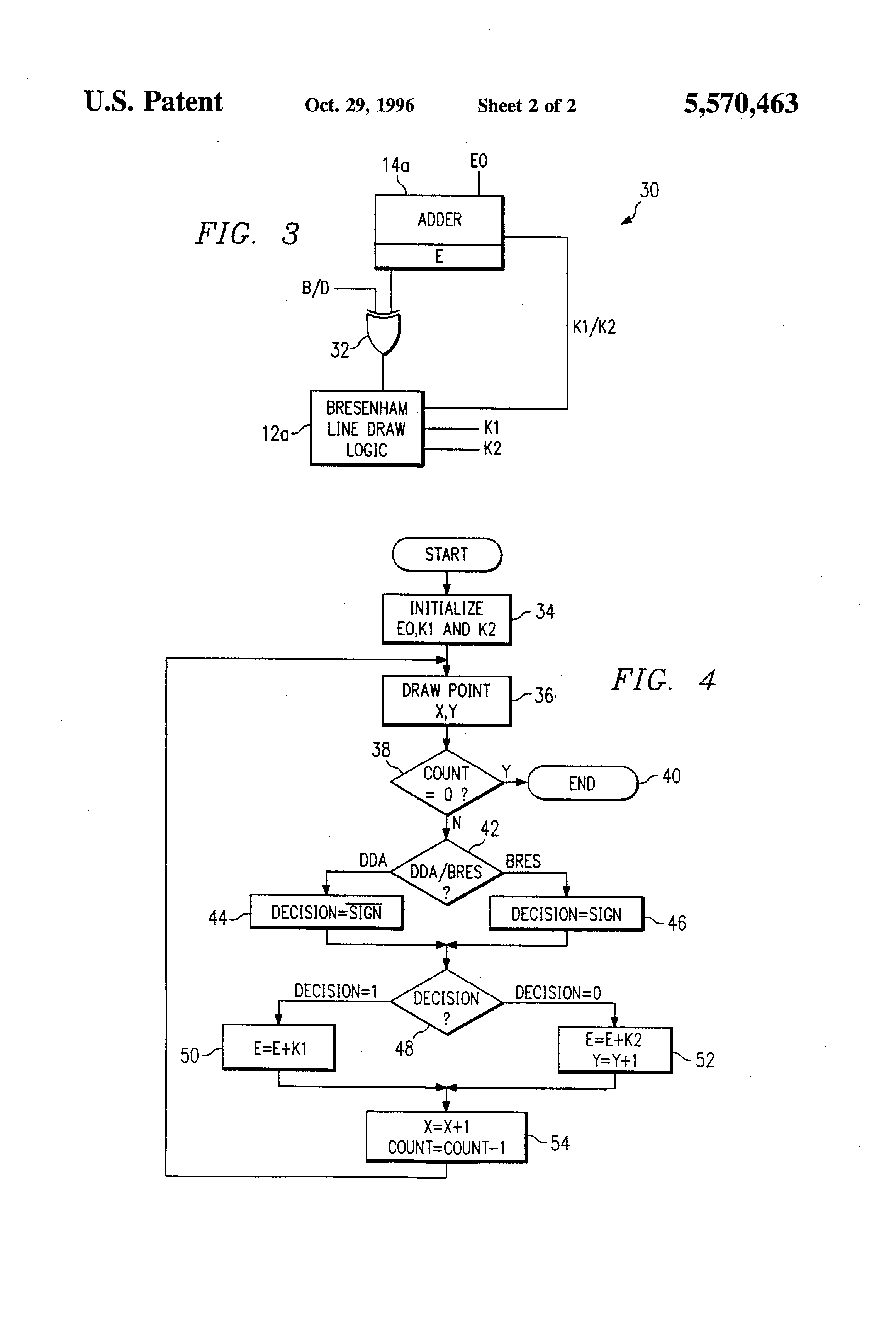Implementation Of Line Drawing Algorithm : Patent us bresenham dda line draw circuitry
