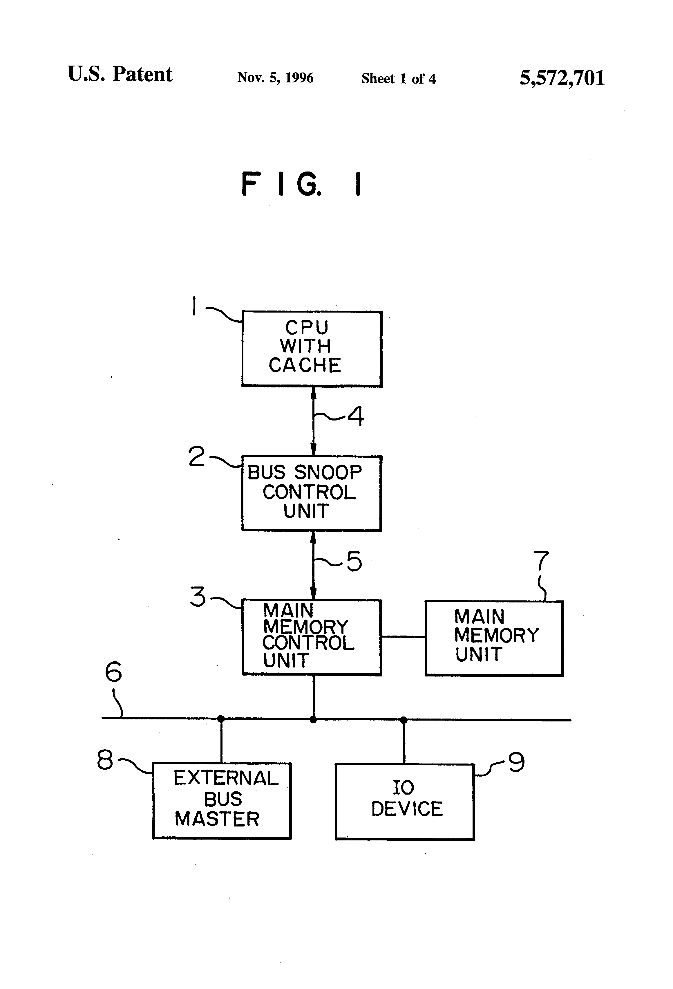 Patent Us5572701 Bus Snoop Method And Apparatus For Computer Diagram Drawing