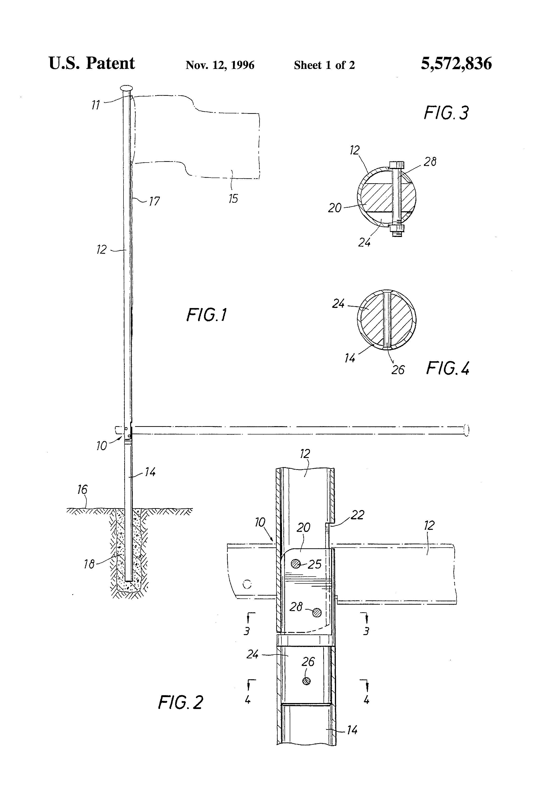 how to make a flag pole base