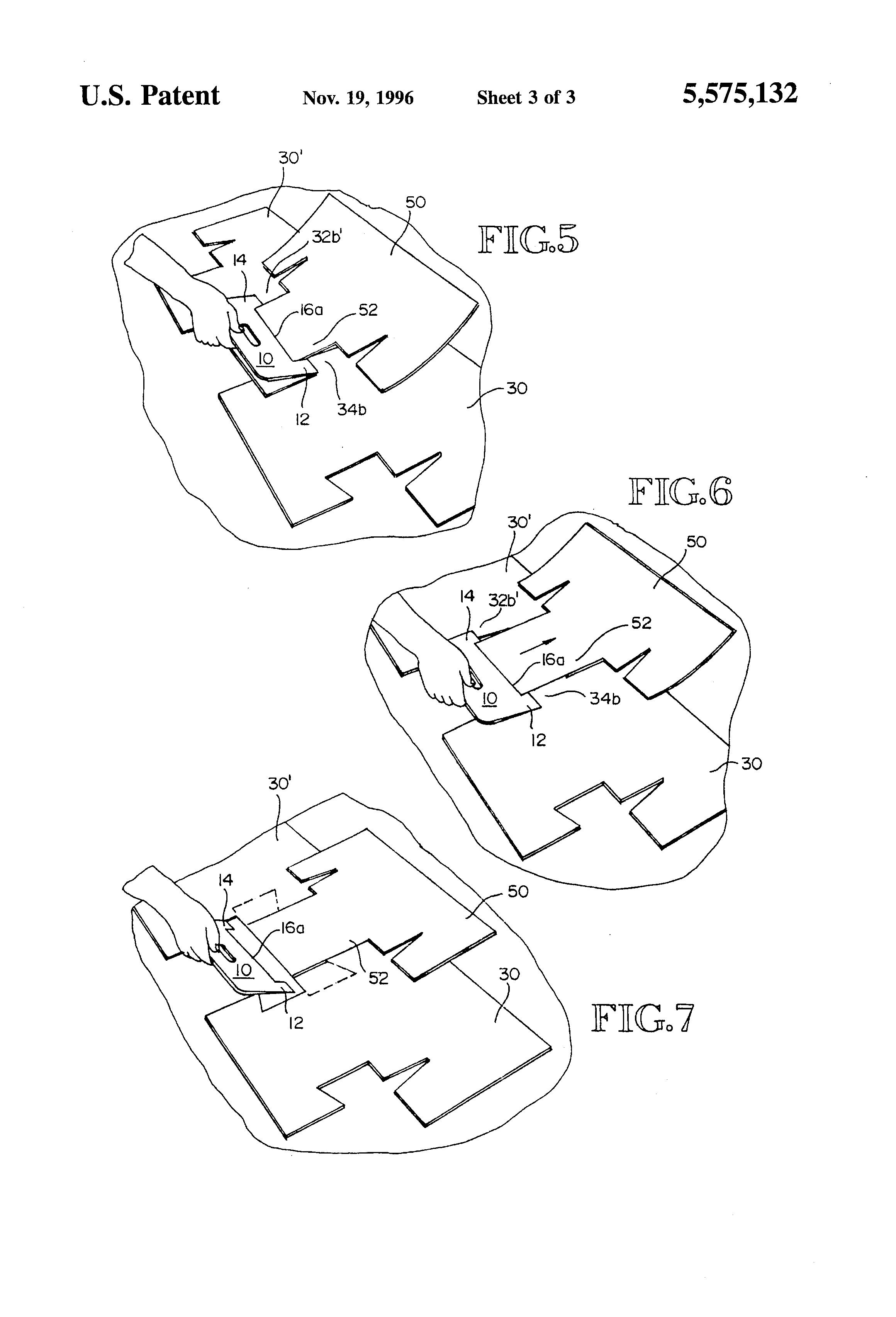 Patent Us5575132 Shingle Installation Tool Google Patenten