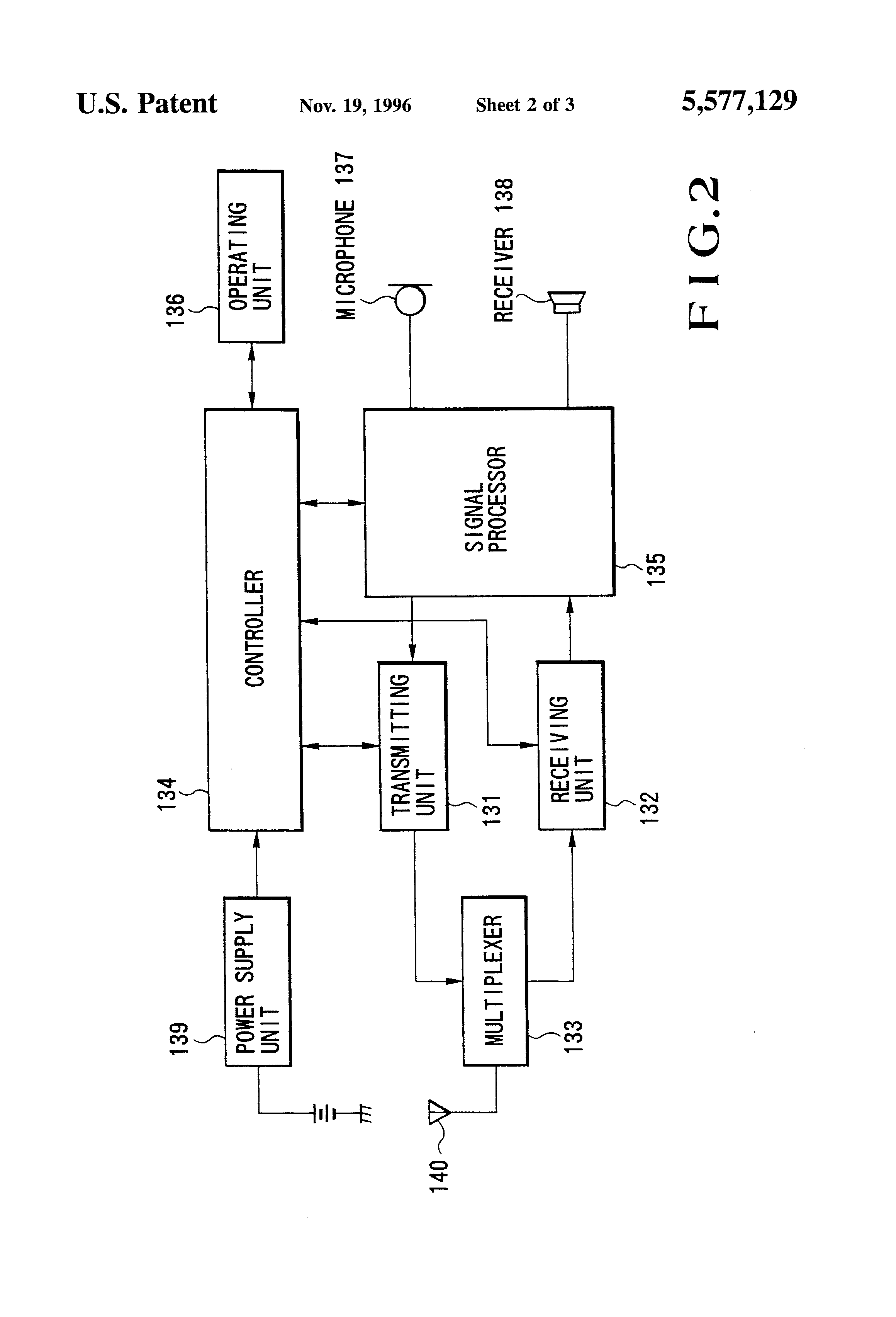 patent us5577129 - amplifier circuit for electret condenser microphone