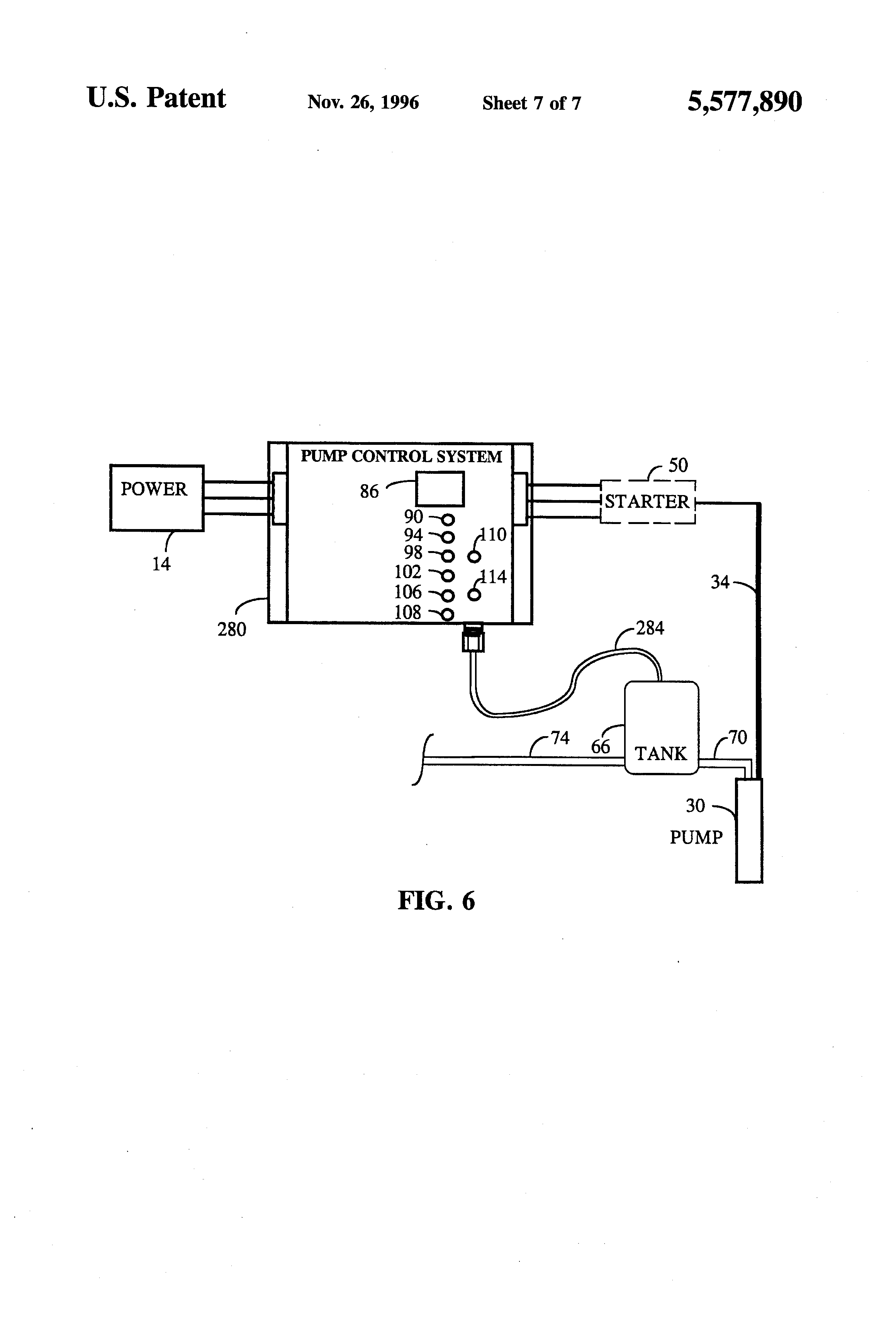 US5577890 7 patent us5577890 solid state pump control and protection system lester controls wiring diagrams at gsmportal.co