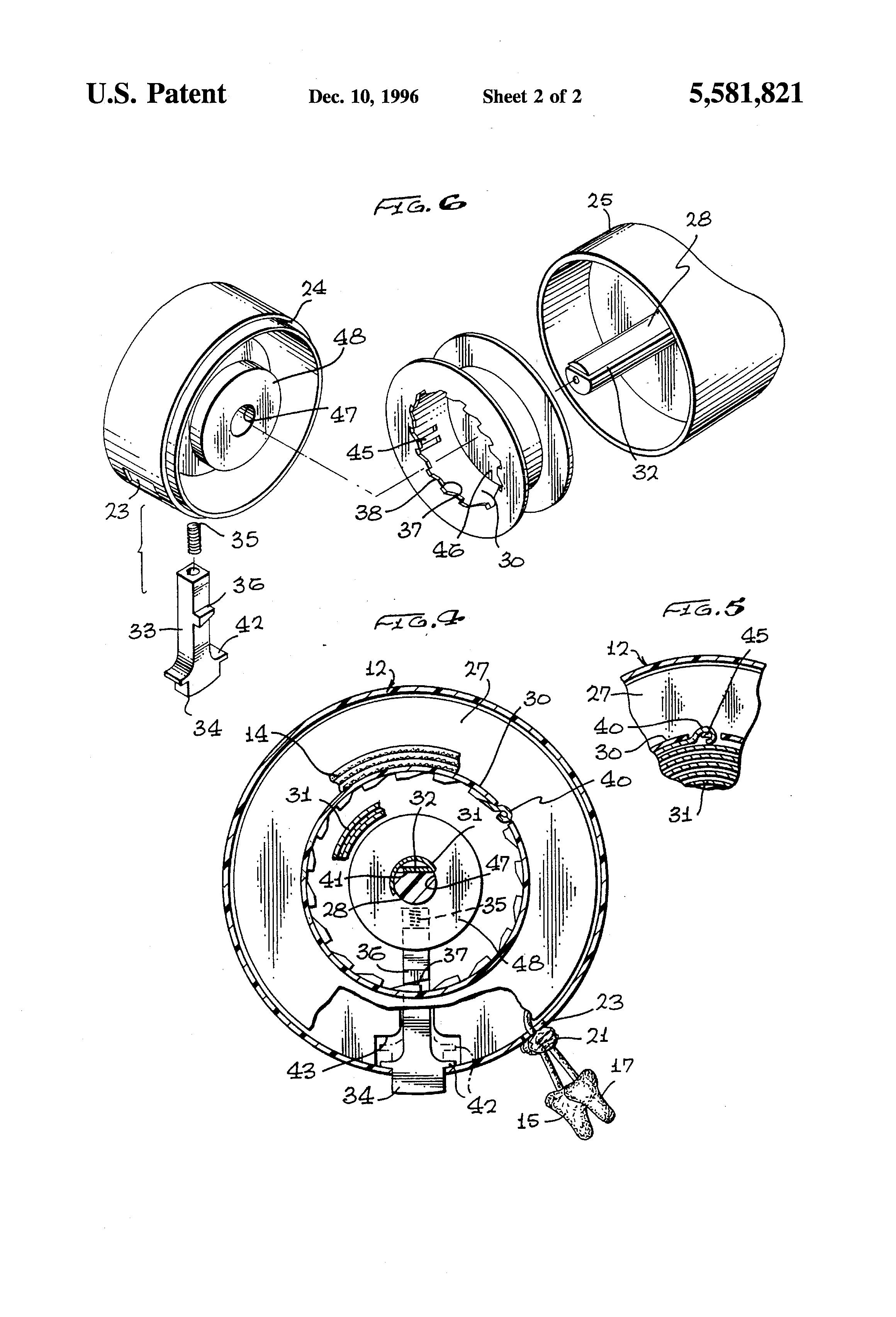 patent us5581821