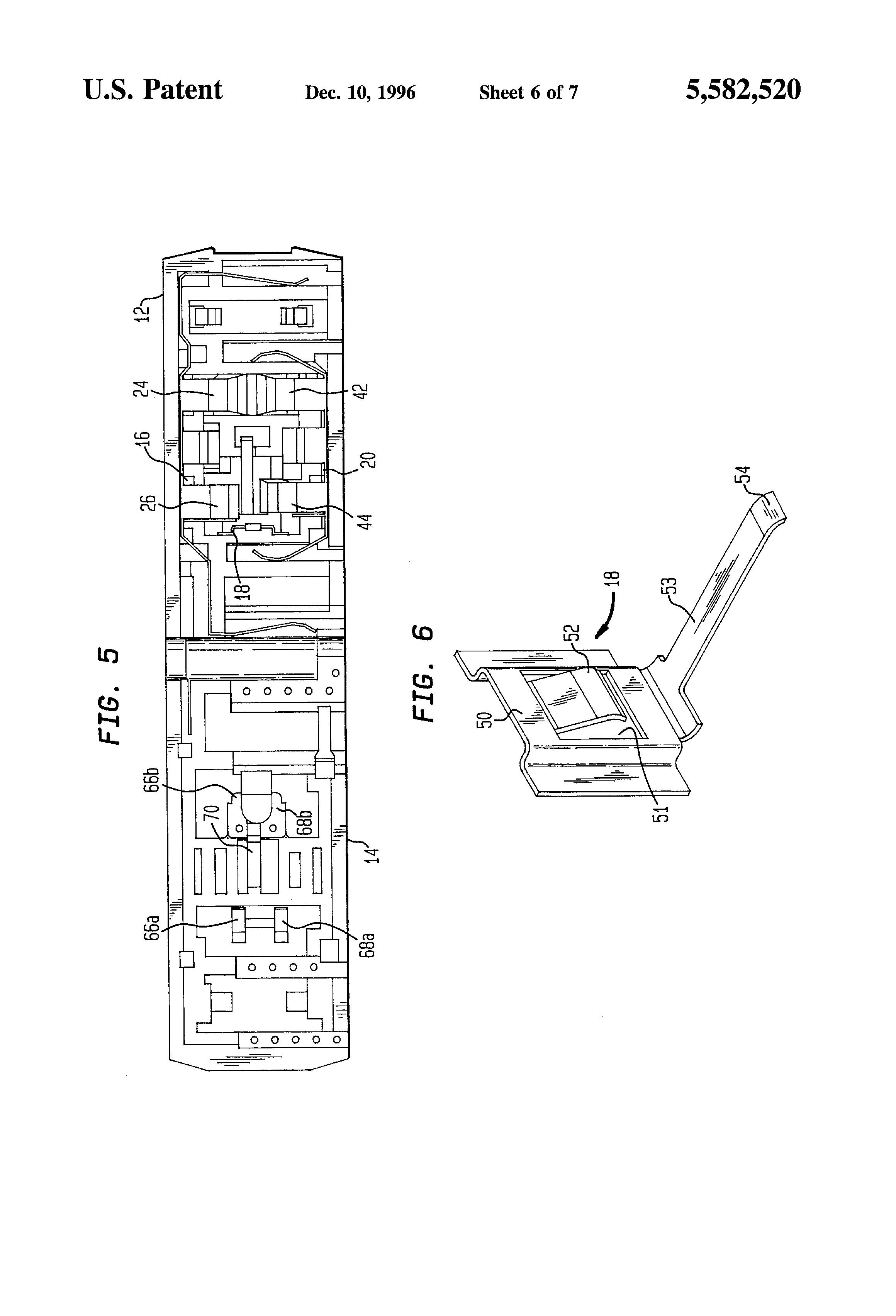 Electro strip receptacle