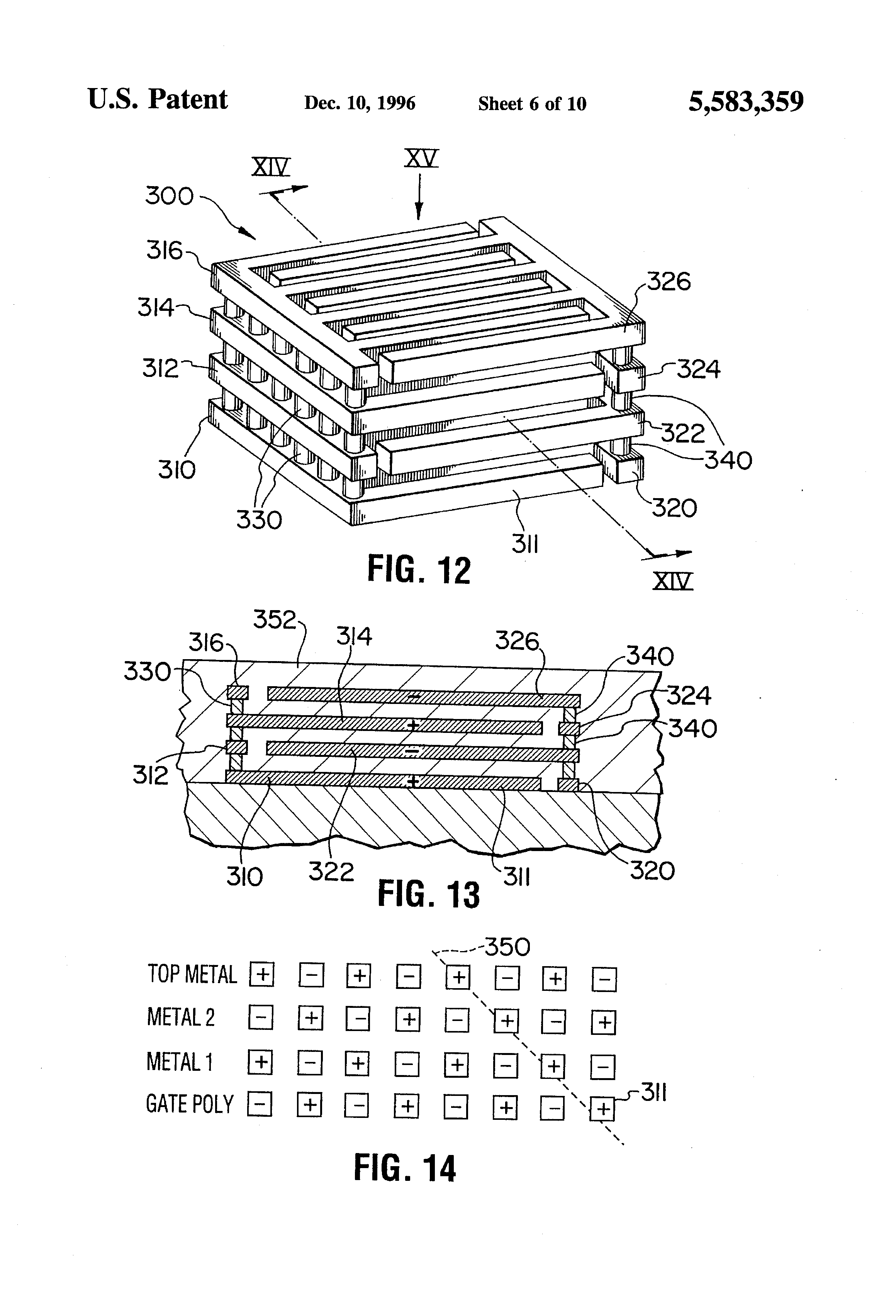 patent us5583359 - capacitor structure for an integrated circuit
