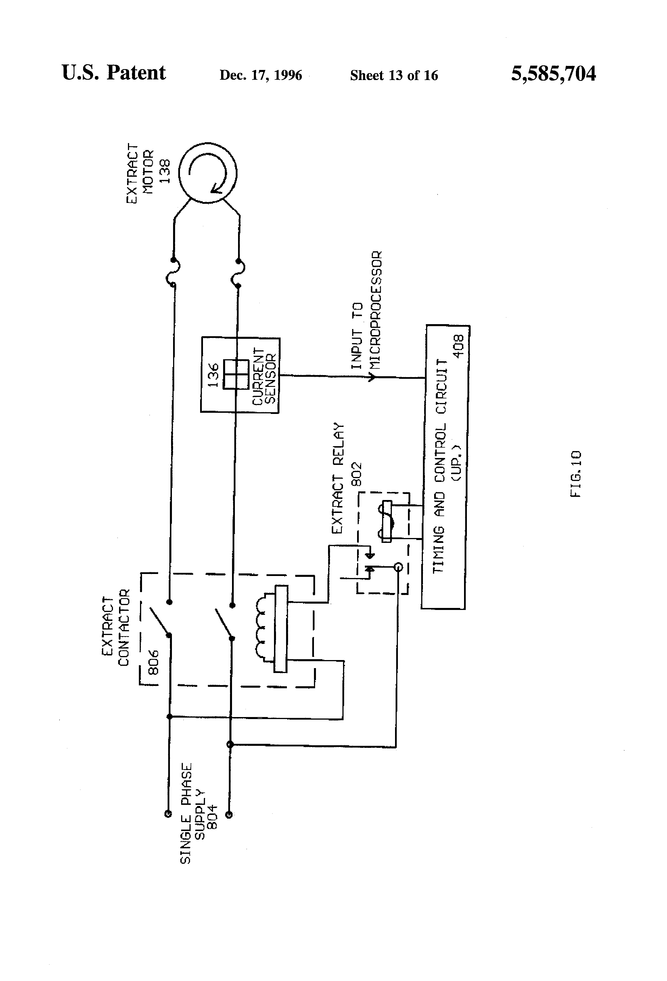 semi automatic washing machine circuit diagram semi patent us5585704 computer means for commercial washing machines on semi automatic washing machine circuit diagram