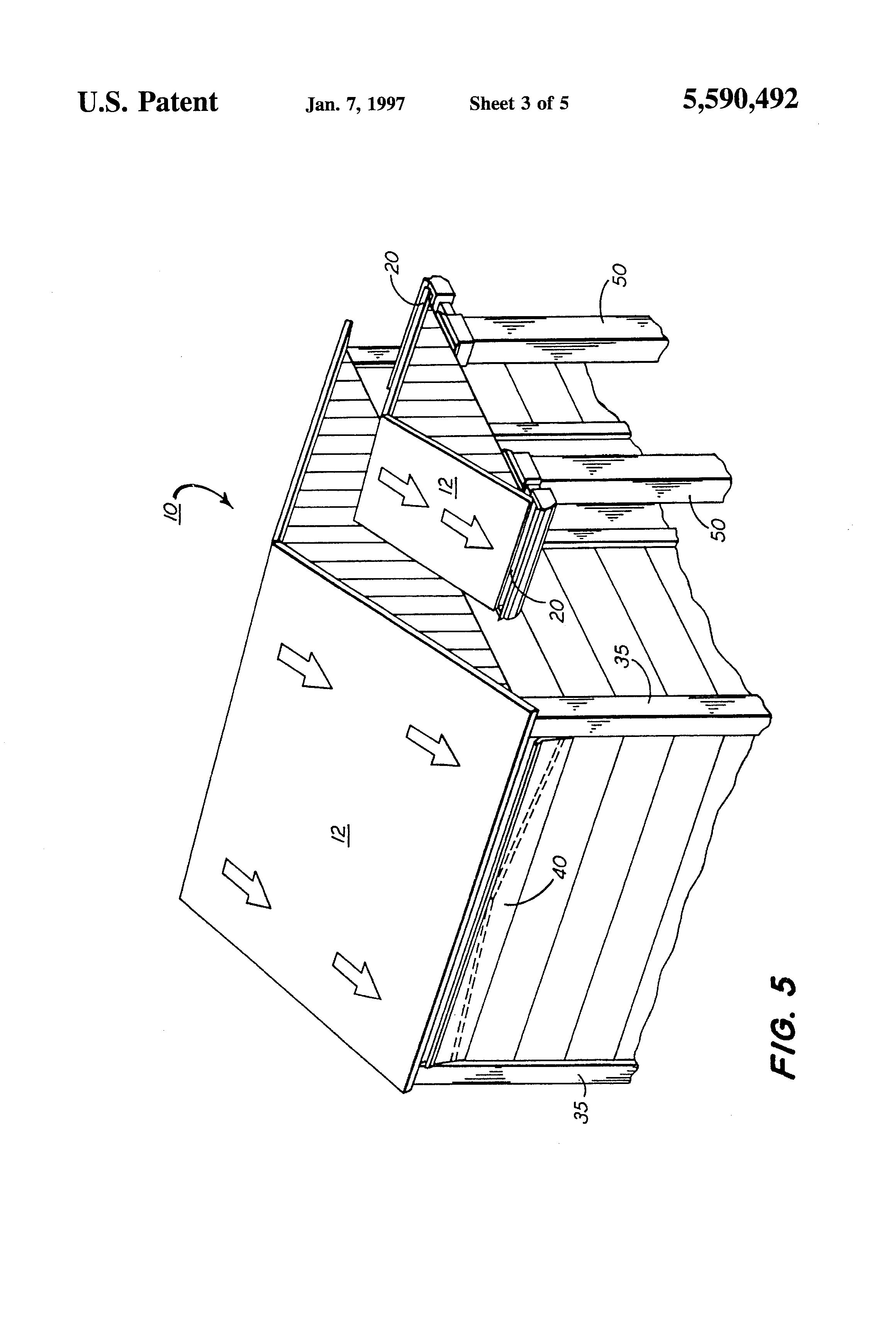 Patent us5590492 roof drainage system google patents for Roof drainage system