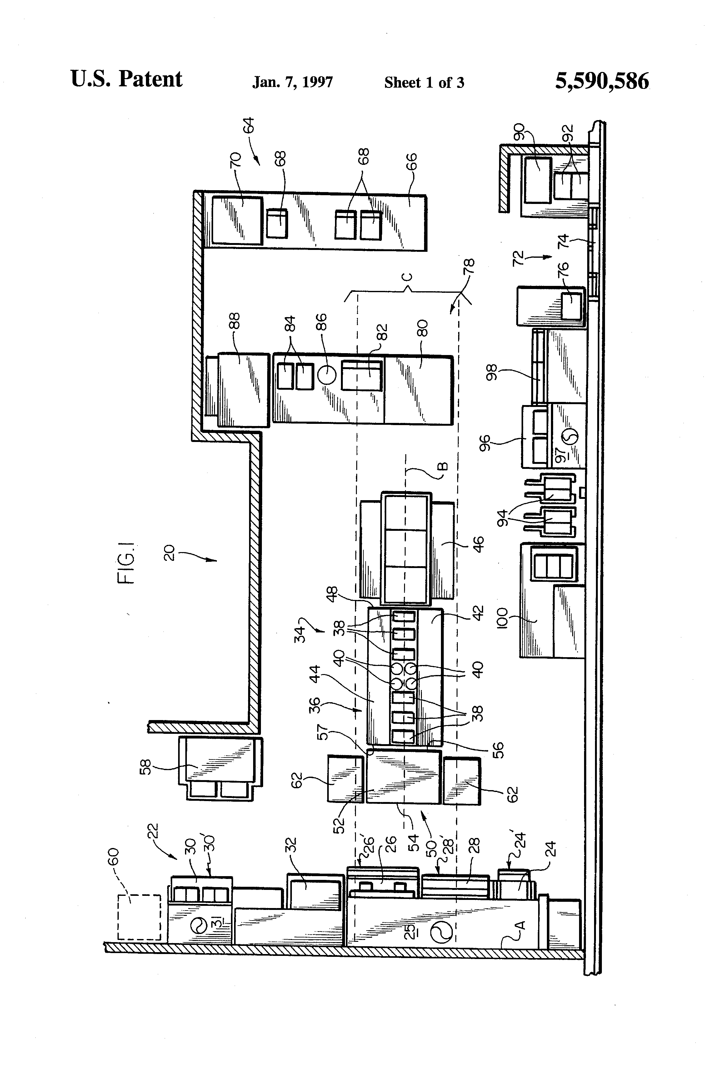 Patent US5590586 - Kitchen layout, system - Google Patents