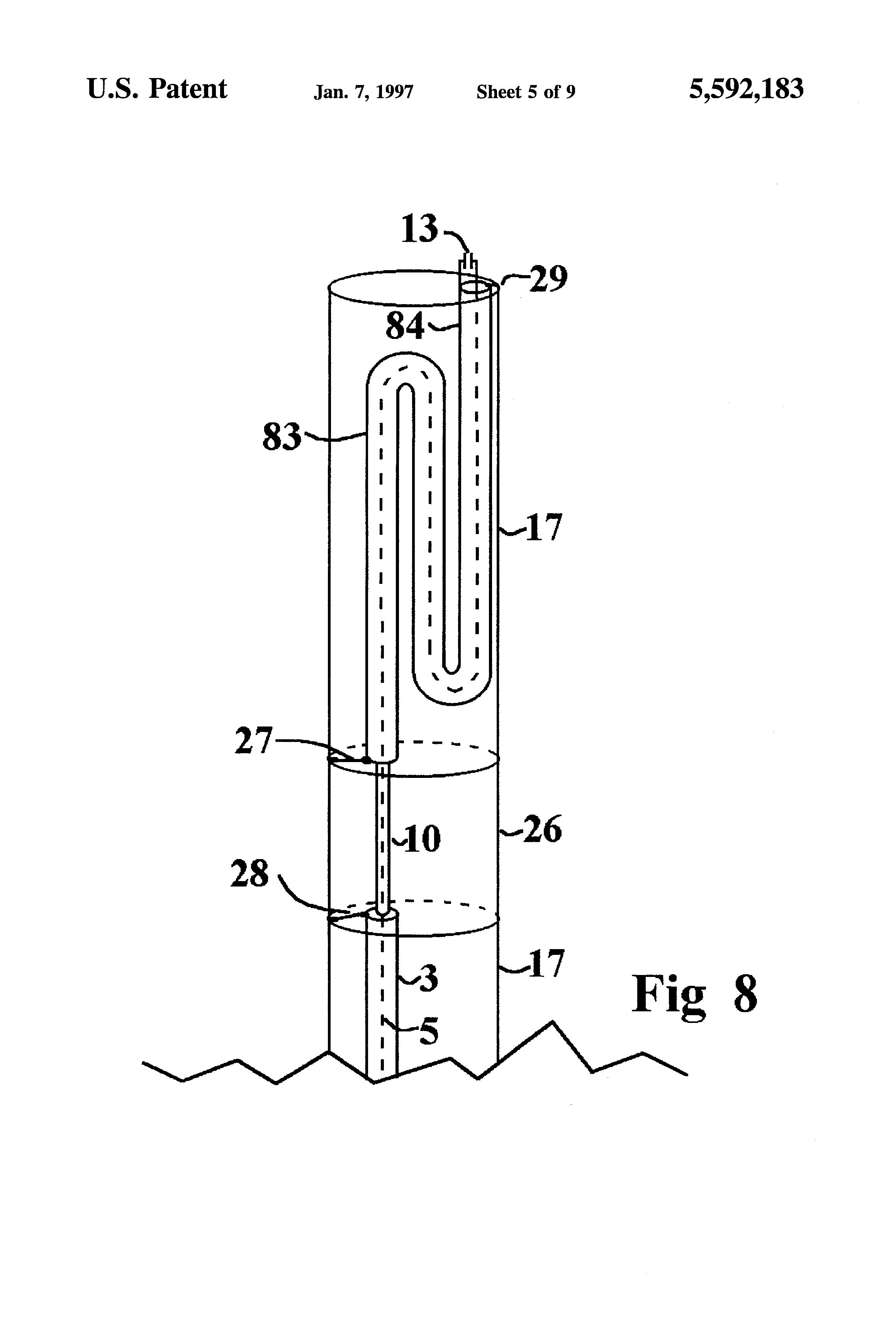 patent us5592183 gap raidated antenna google patents patent drawing