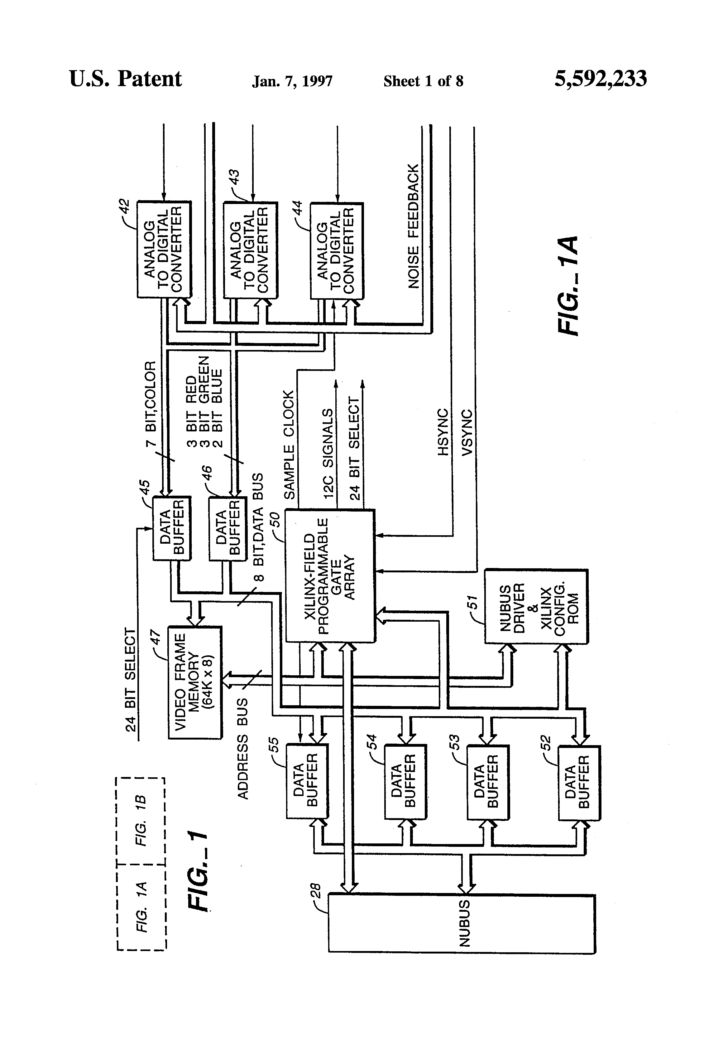 patent us5592233 - apparatus and method for video pixel data transfer