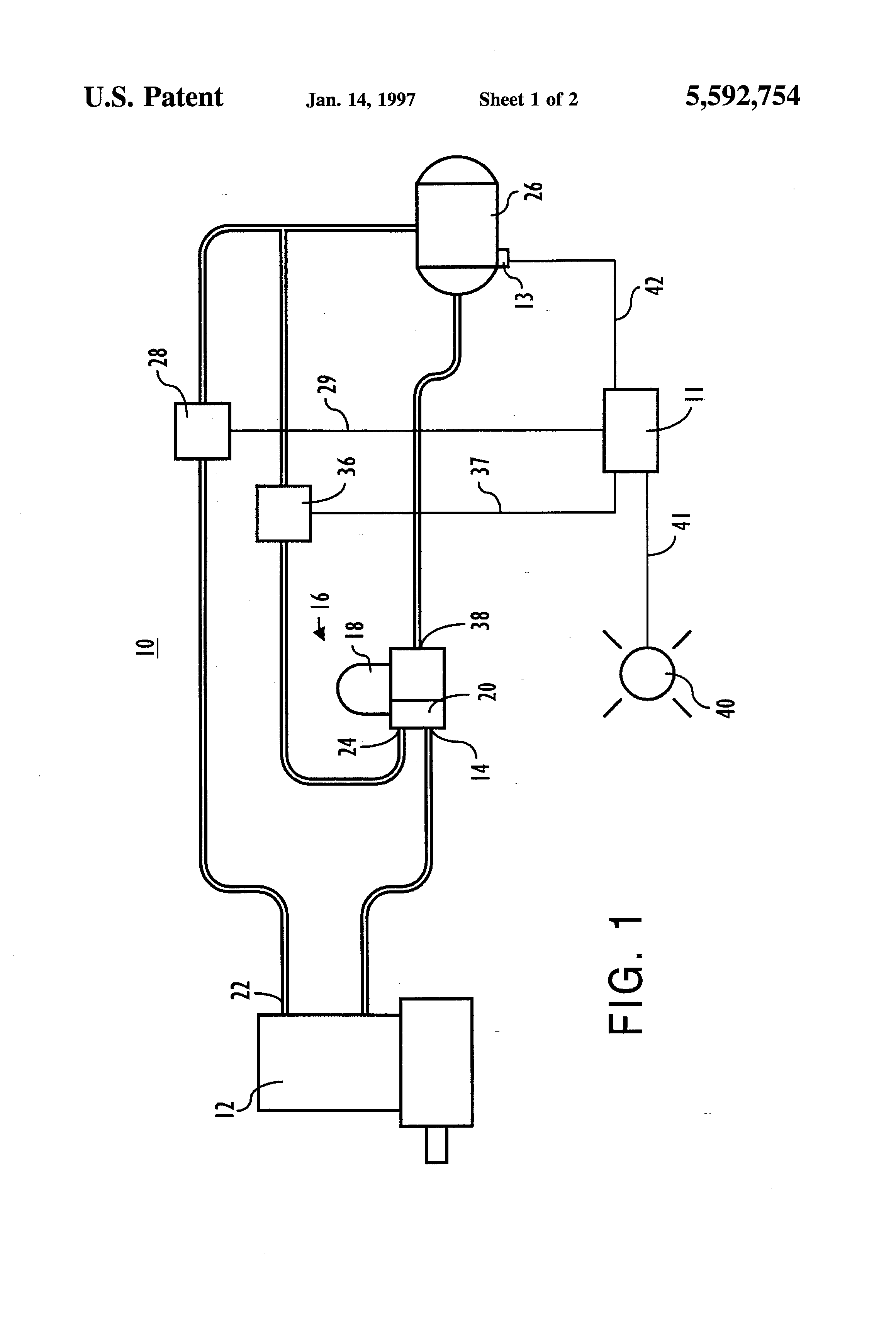 Patent Us5592754 - Electronic Control Of Compressor Unloader And Air Dryer Purge