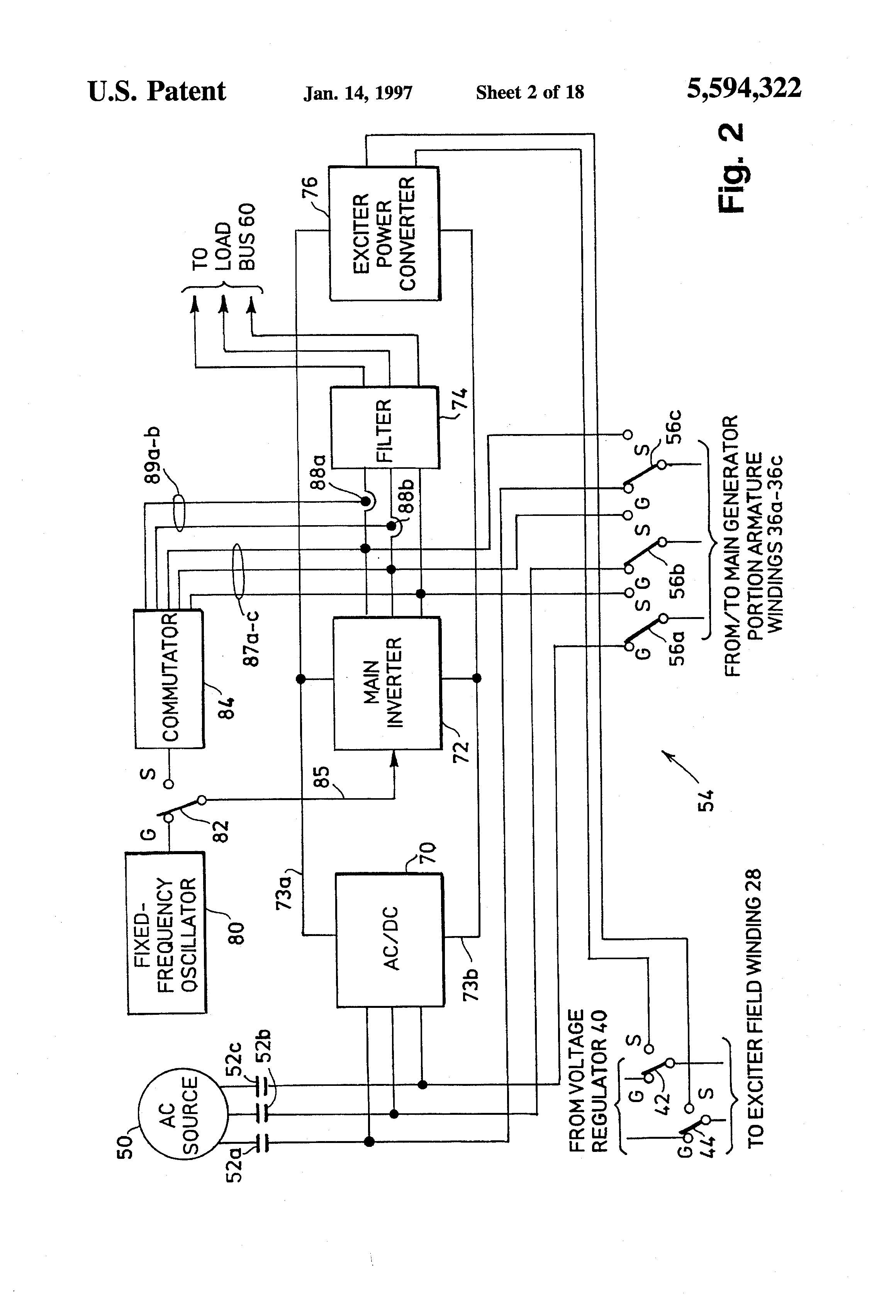 patent us5594322  generator system with variable