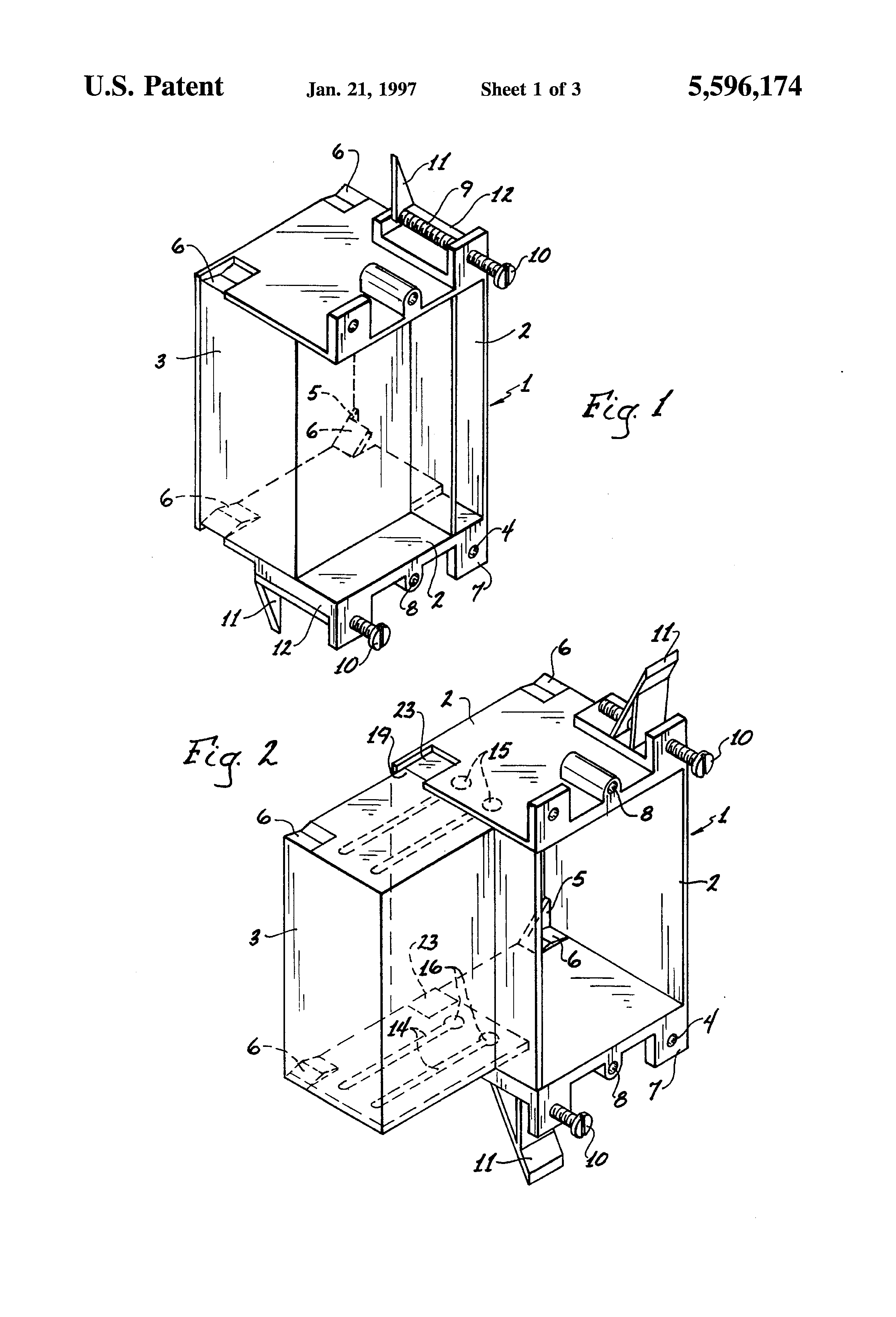 patent us5596174 - expandable electrical outlet box