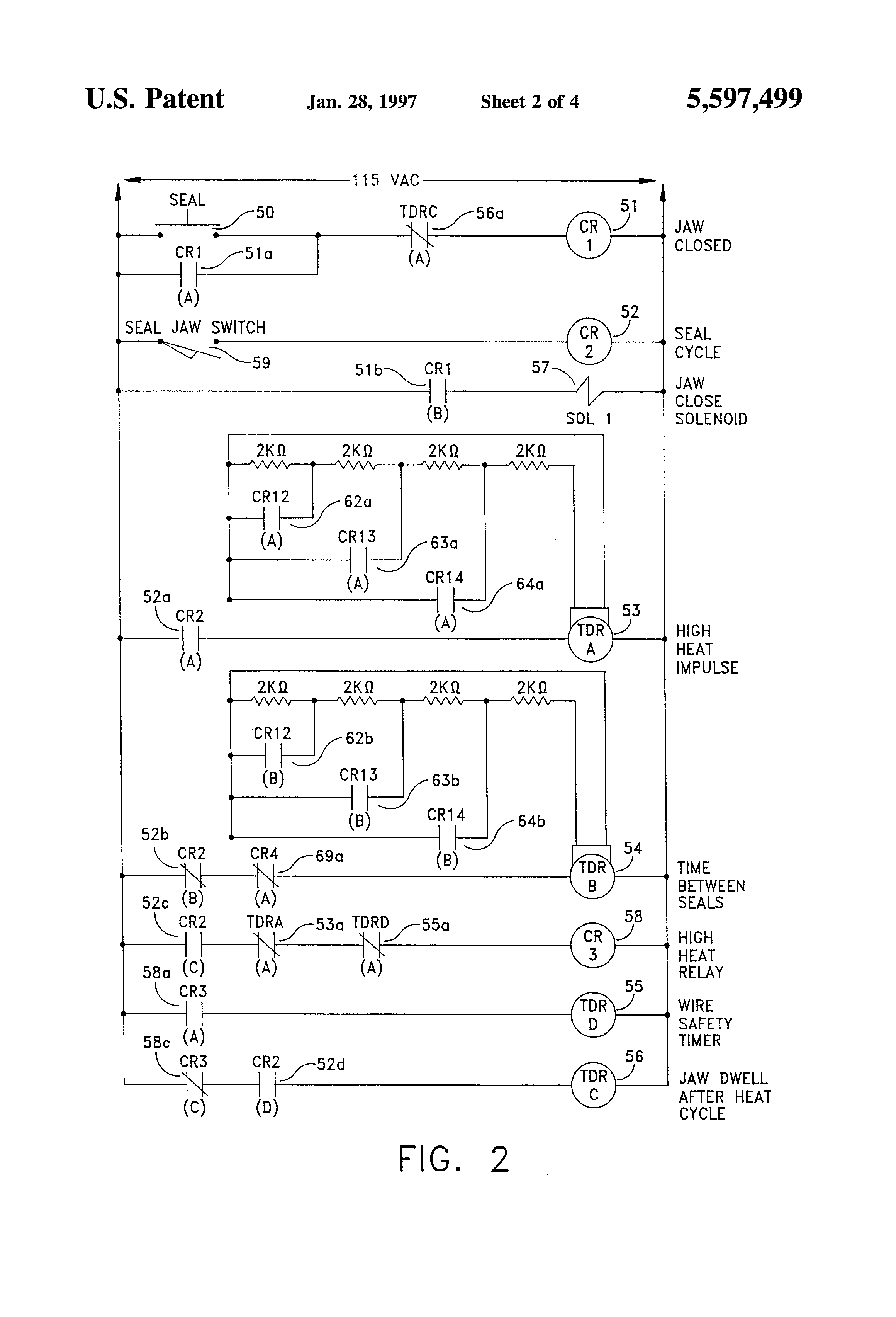 US5597499 2 patent us5597499 seal wire control for packaging machinery heat seal wiring diagram at bakdesigns.co