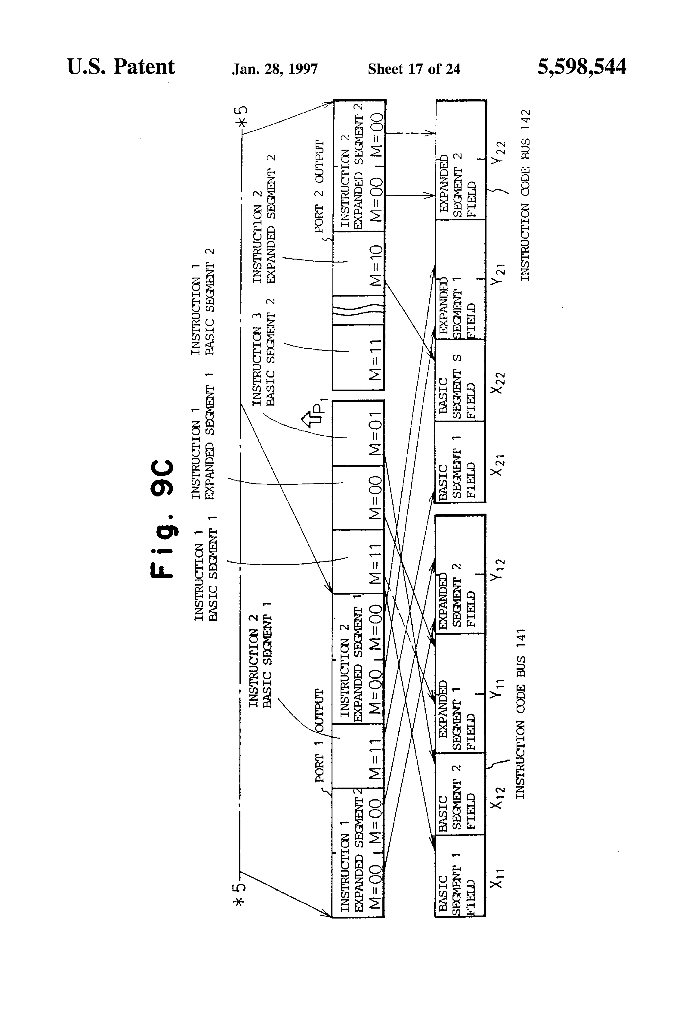 instruction buffer device for processing an instruction set of