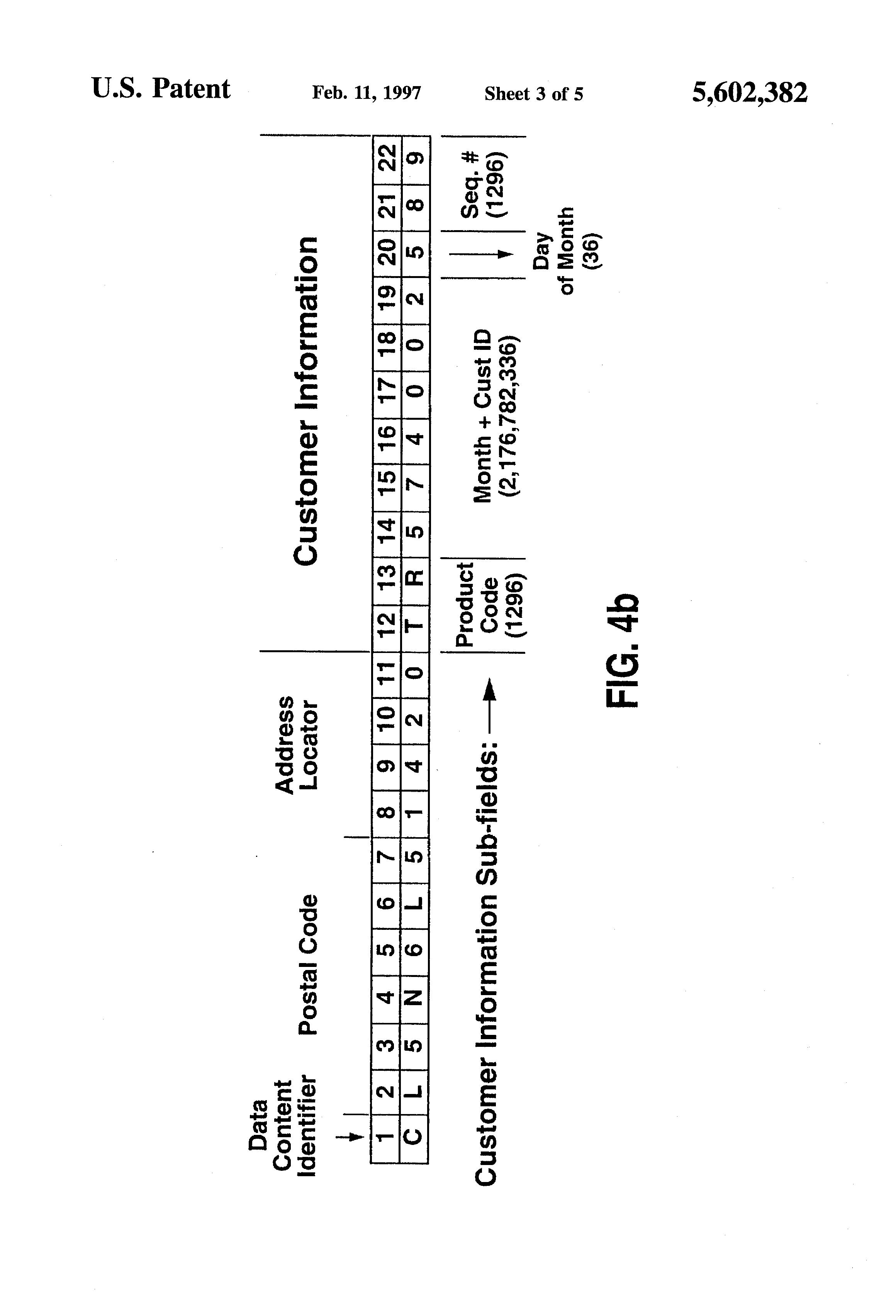 Patent US Mail Piece Bar Code Having A Data Content - Us zip code alphanumeric