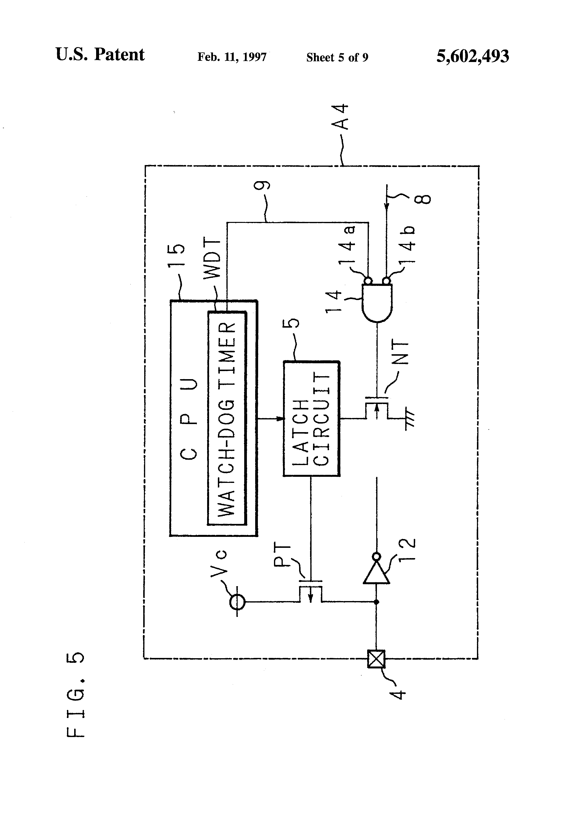 Patent Us5602493 Bias Circuit For An Input Terminal Google Patents Latching Circuits Schematic Picture Drawing