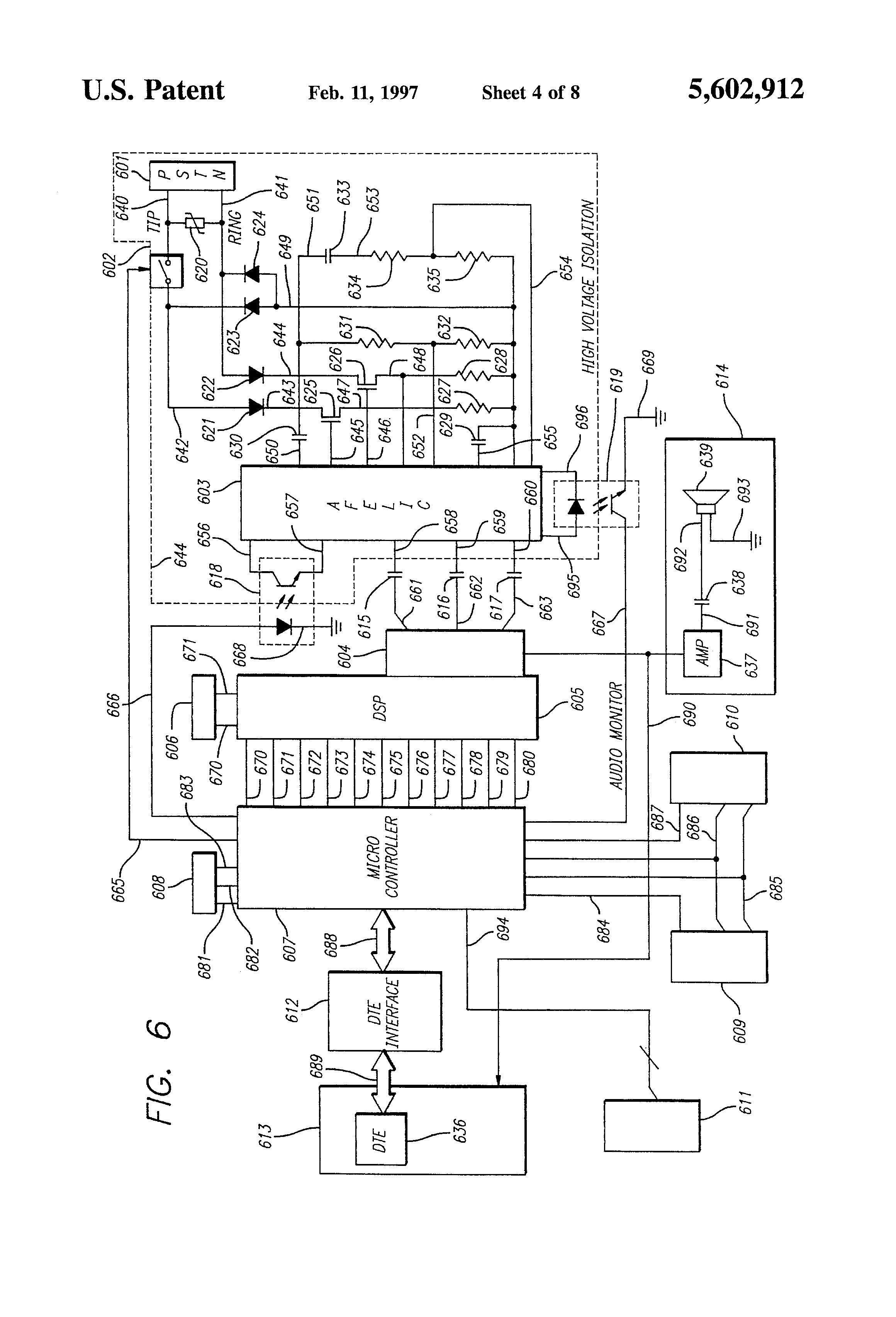 patent us5602912 - telephone hybrid circuit