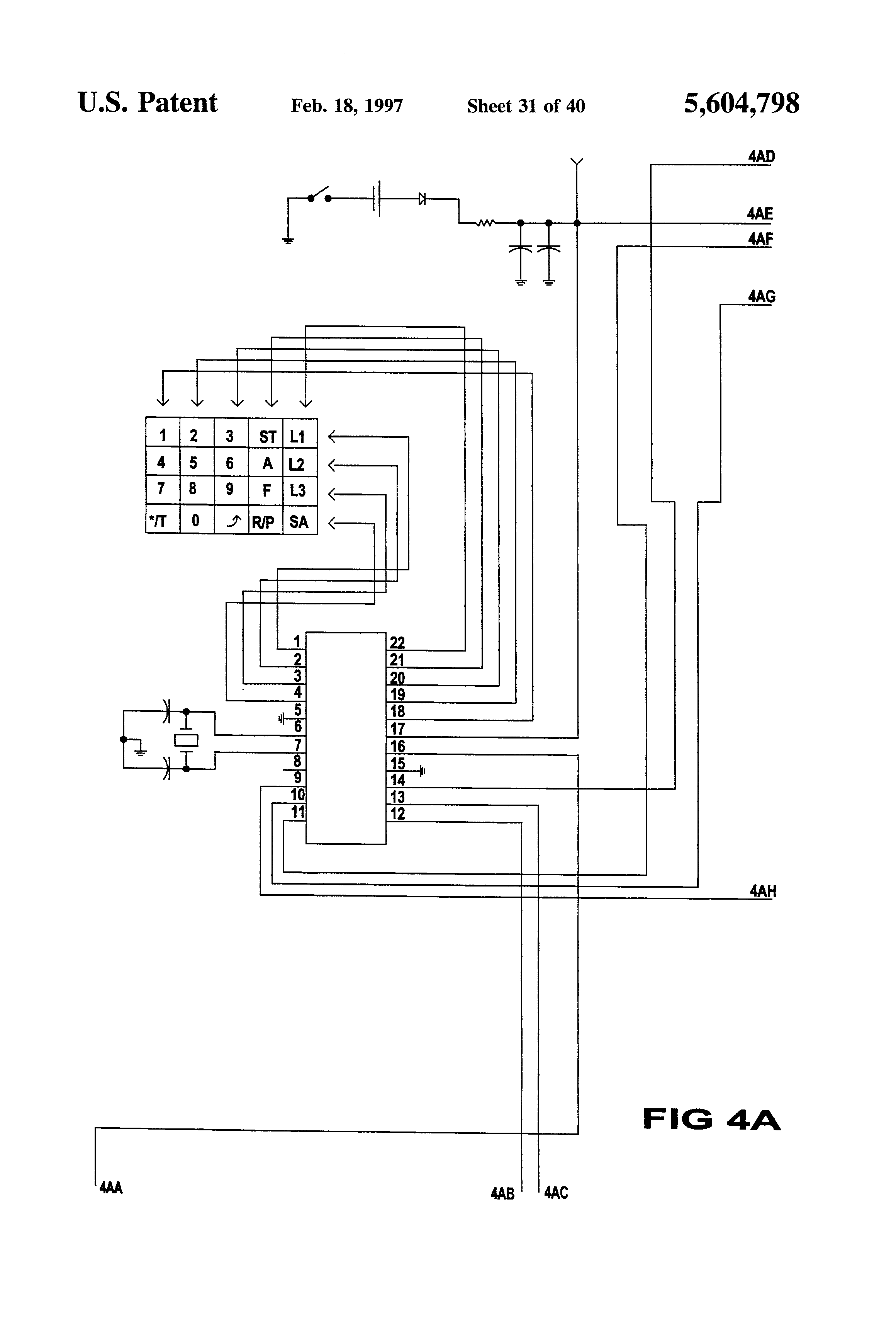 Brevet Us5604798 Telephone System With Automatic Volume Control Winking Leds Schematics Wiring Diagram Circuits Schema Electronic Patent Drawing