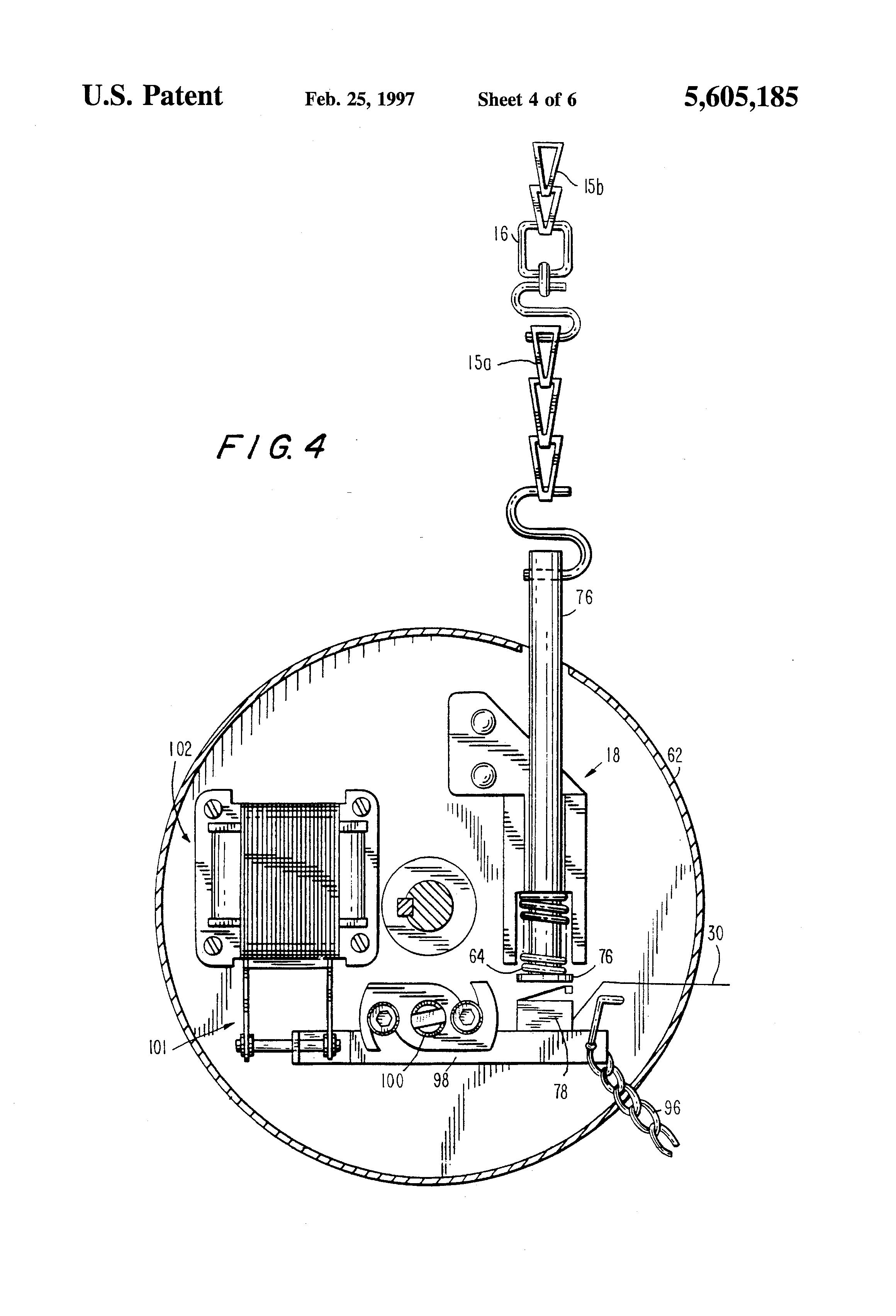 Patent Drawing  sc 1 st  Google & Patent US5605185 - Fire door system - Google Patents pezcame.com
